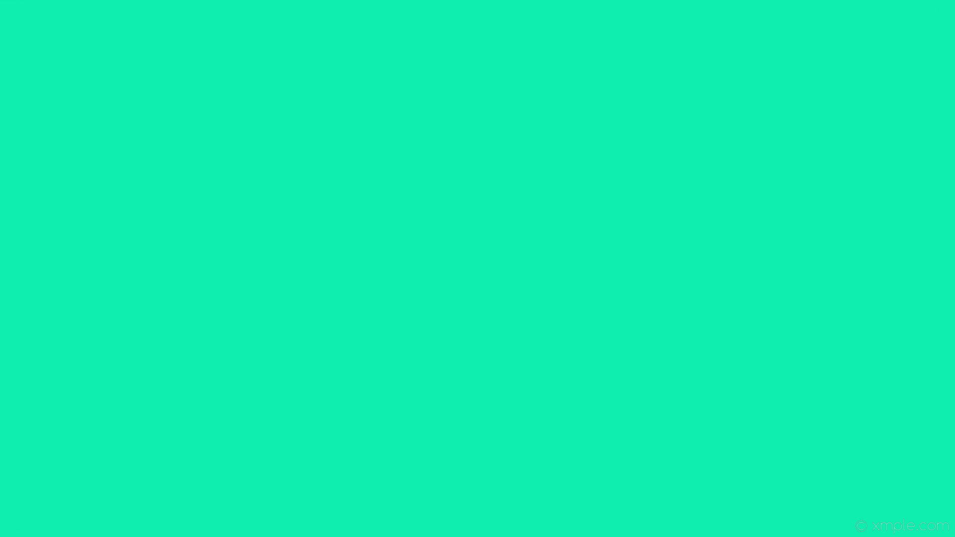 wallpaper plain turquoise one colour single solid color #0feeaf