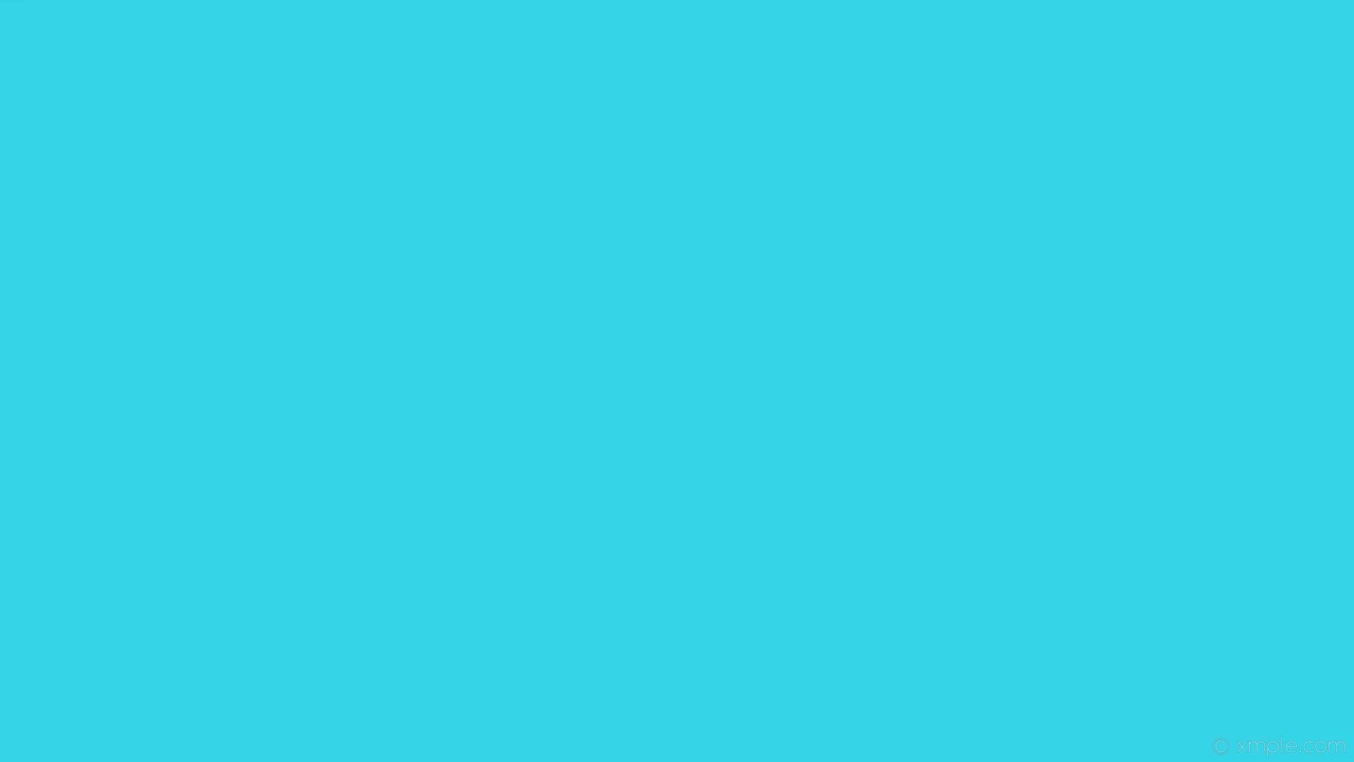 wallpaper one colour plain cyan single solid color #35d4e7