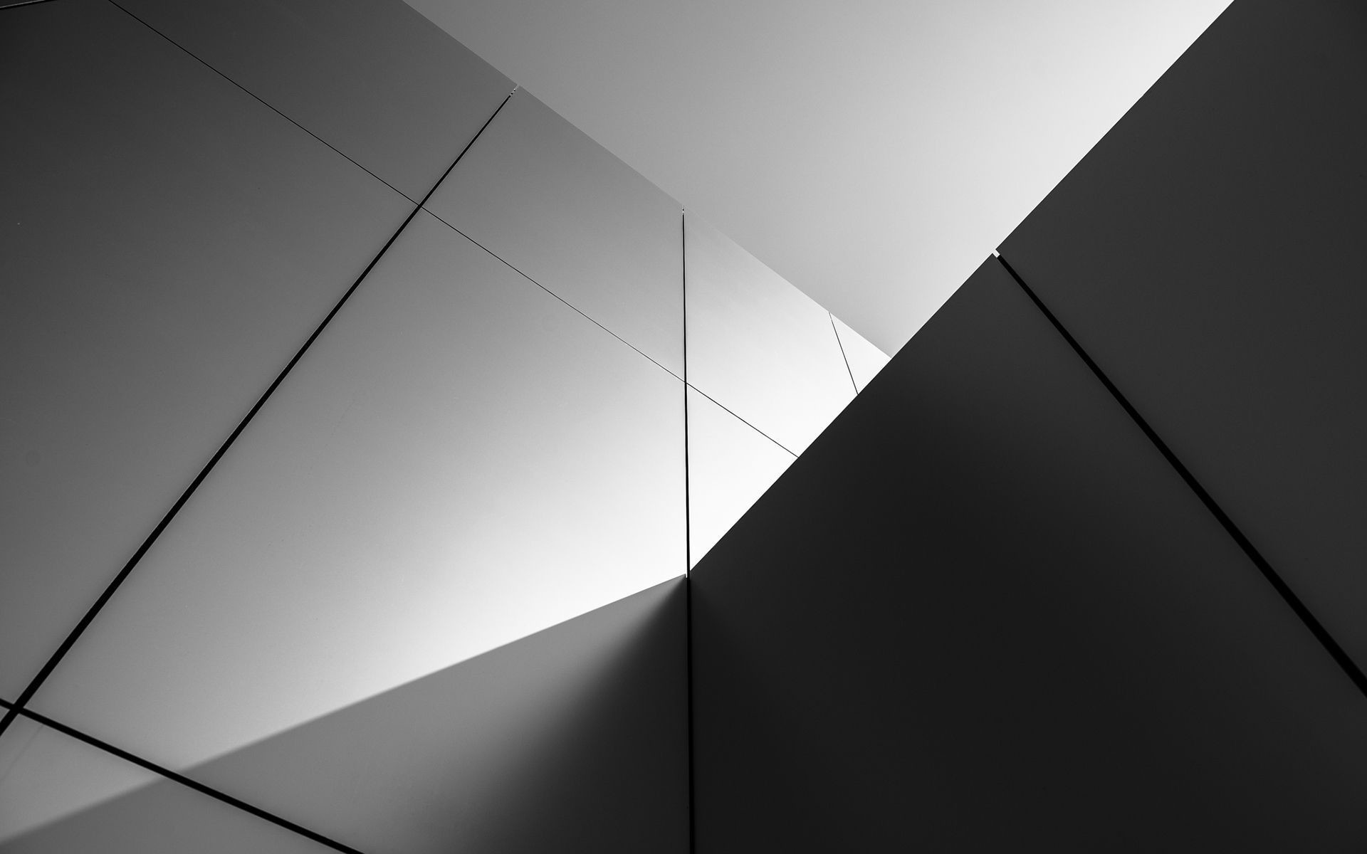 Buildings wall abstract black white wallpaper