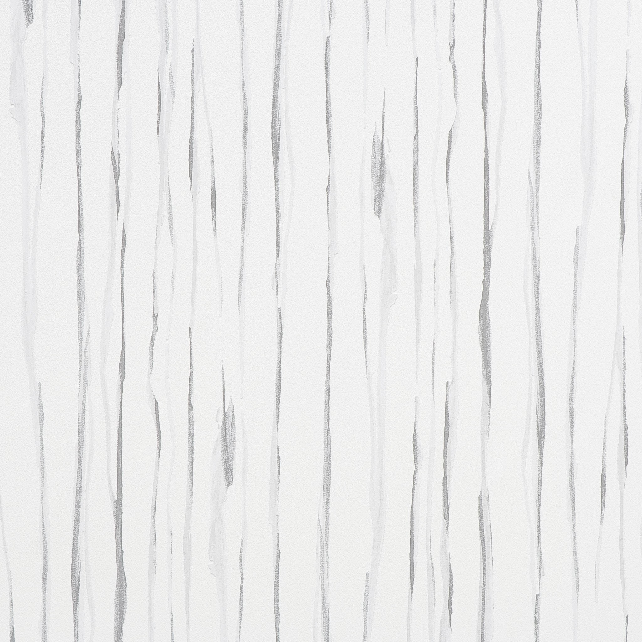 Abstract Stripes Wallpaper in White design by BD Wall
