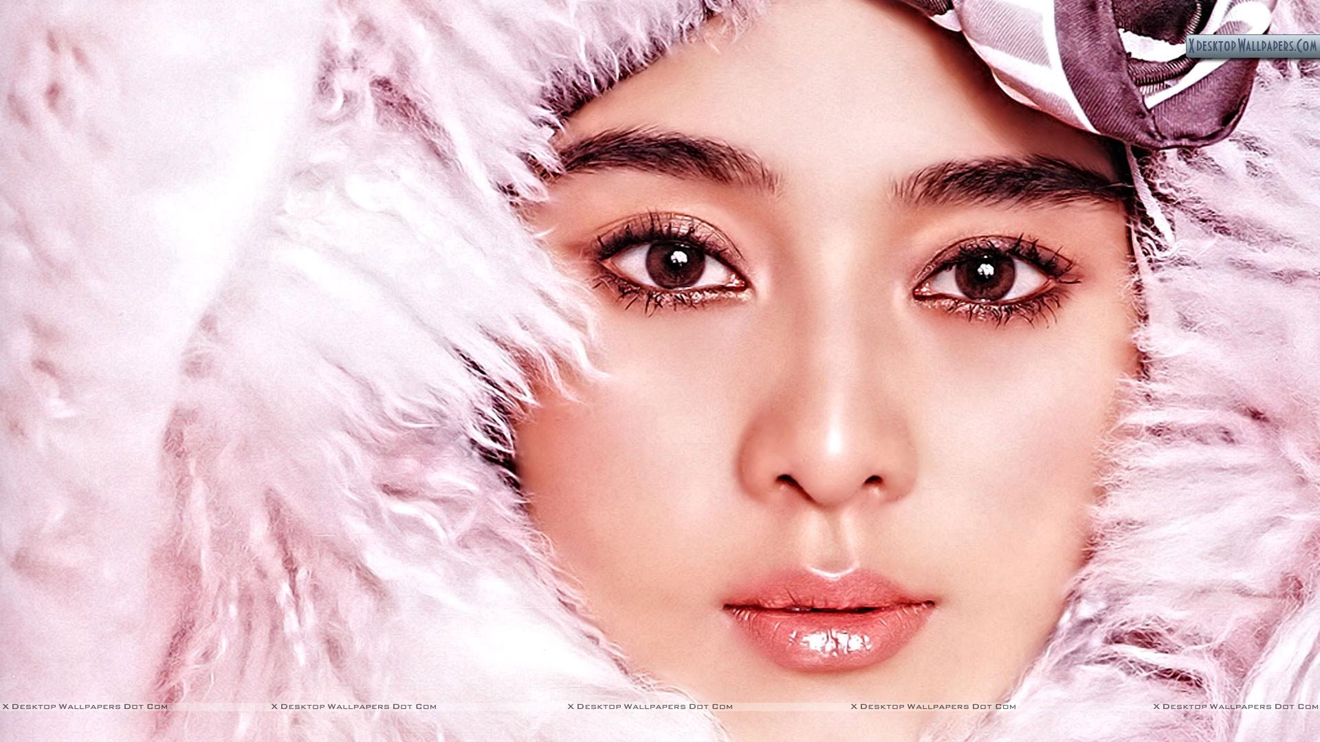 Fur Coats for Women   Japanese Girl In Pink Fur Coat Wallpaper