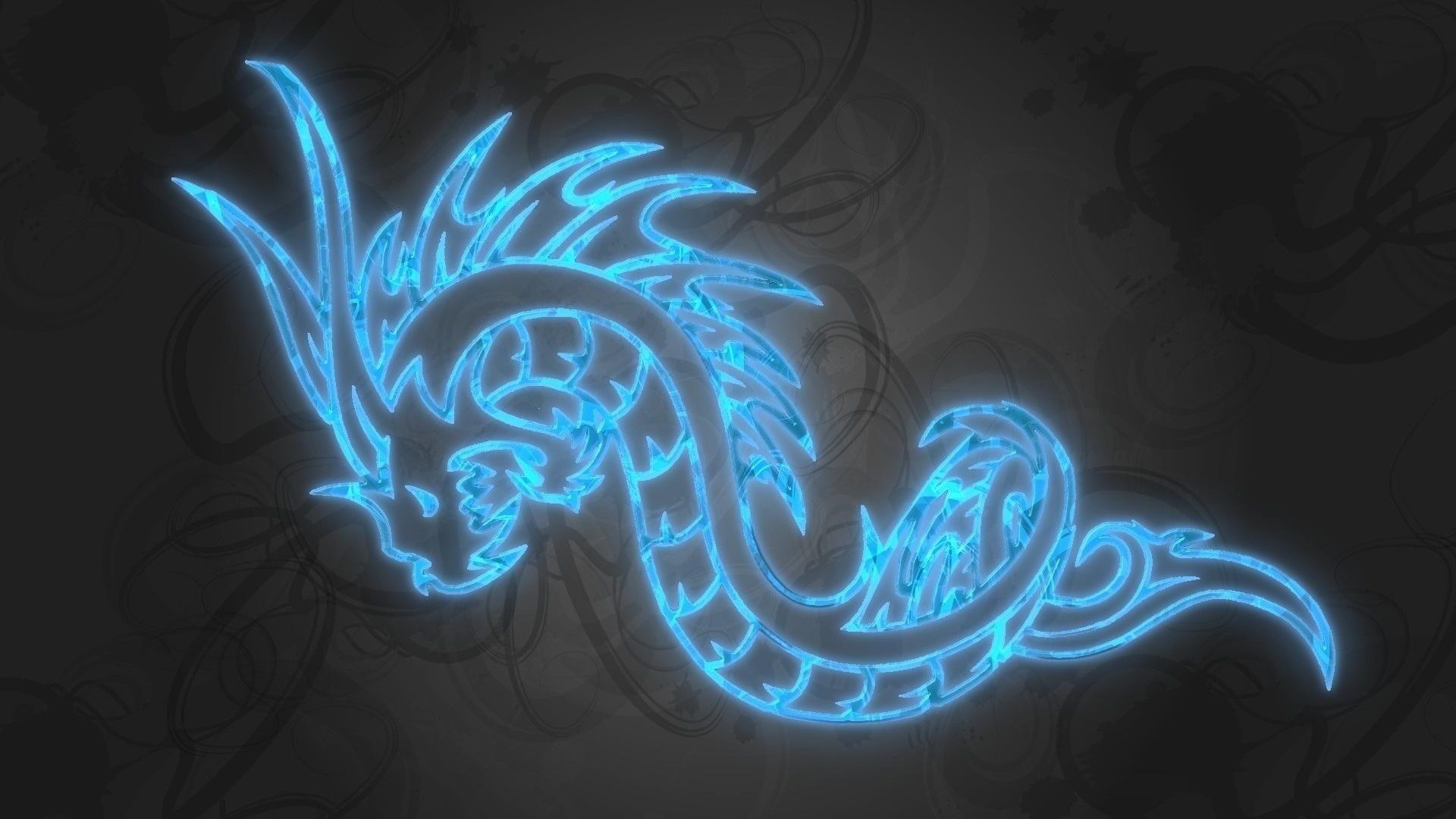 Wallpapers For Black Blue Dragon Wallpaper