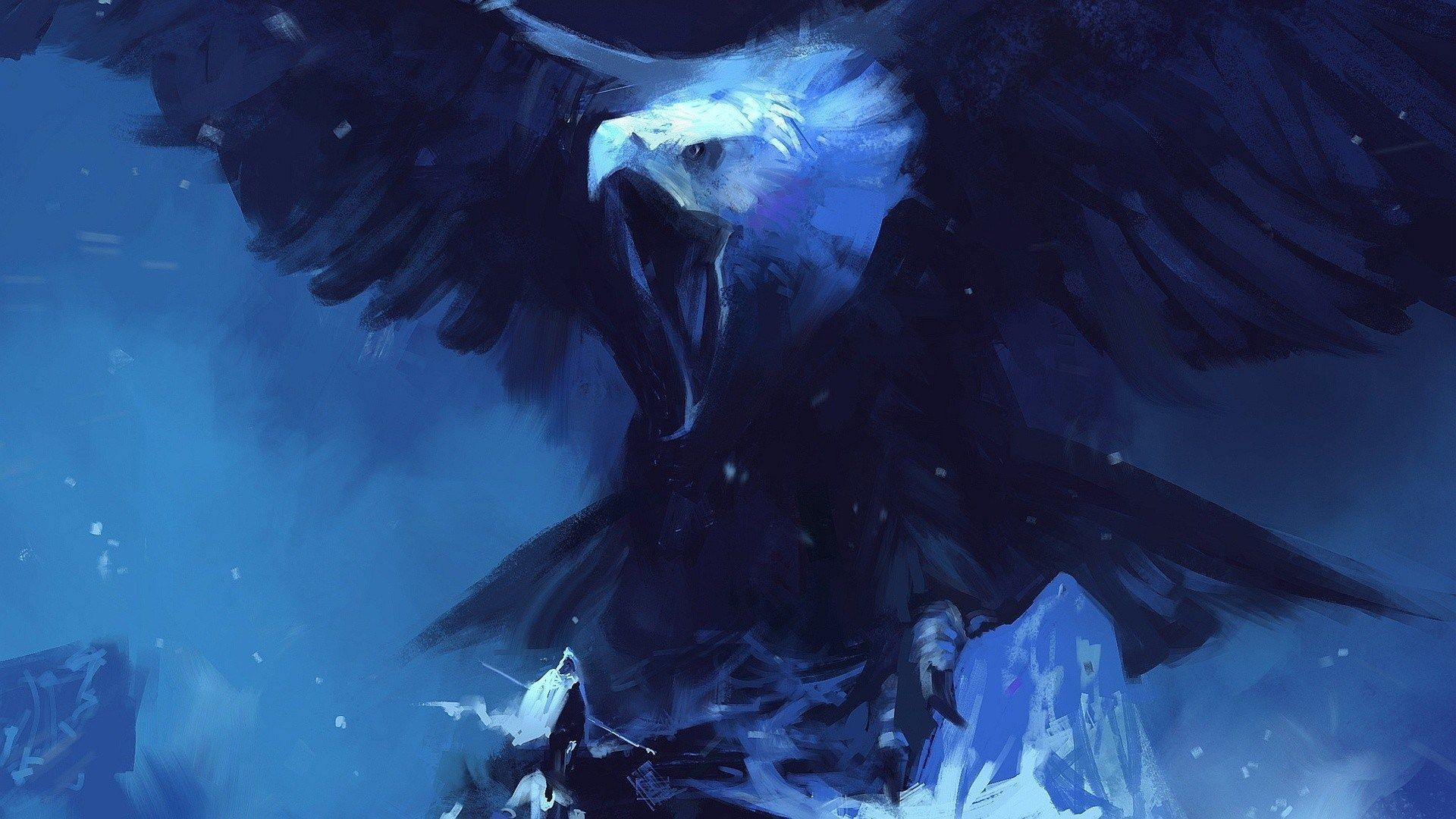 Fantasy Blue Dragon wallpaper