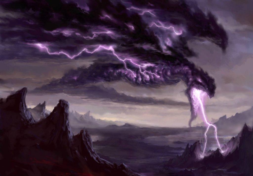 the lightning dragon Wallpaper Background