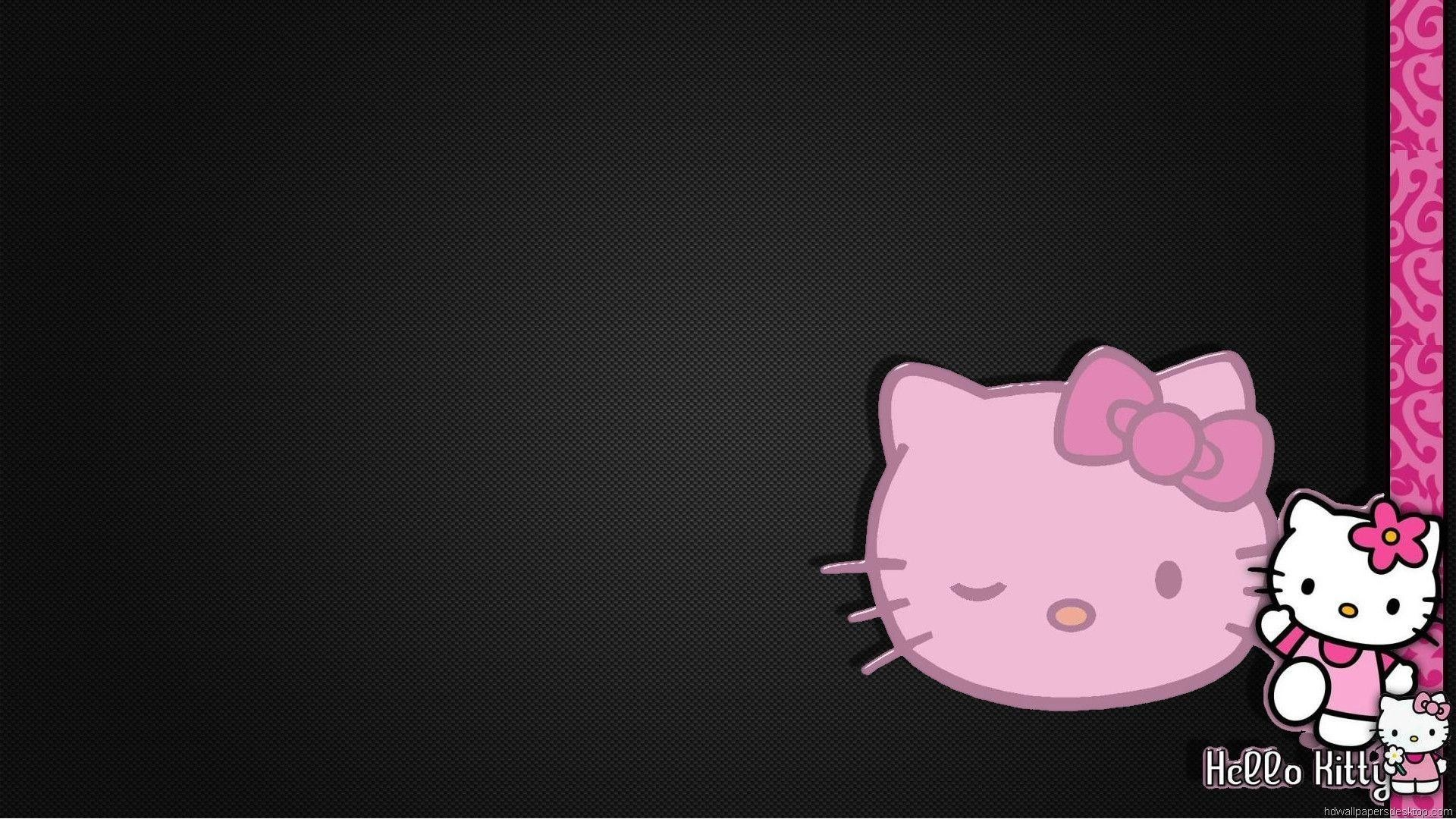 pink and black hello kitty happy birthday wallpaper – Free .