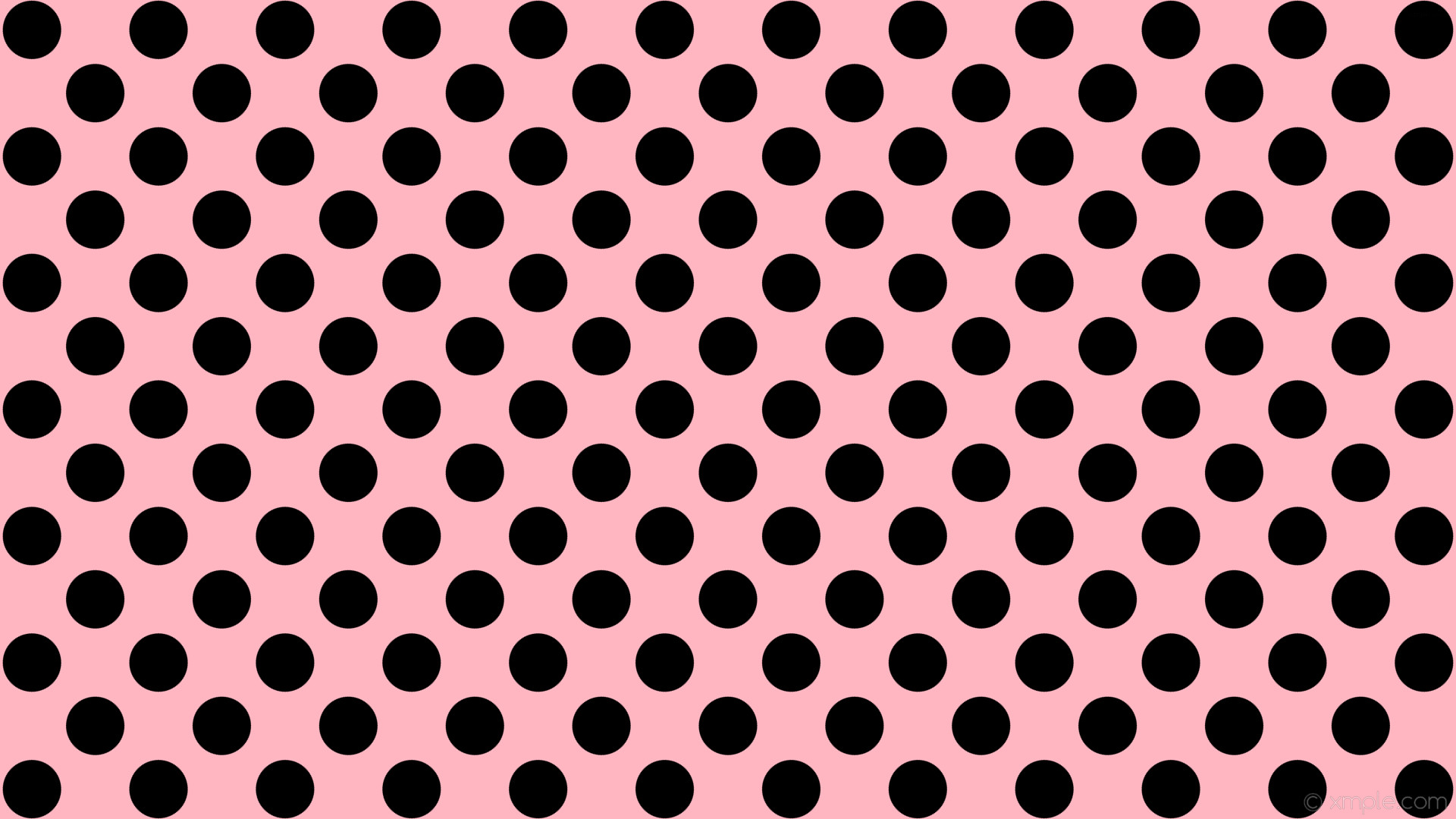wallpaper dots polka pink spots black light pink #ffb6c1 #000000 135° 77px  118px