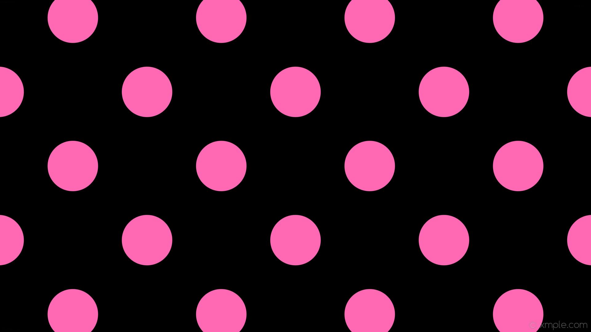 wallpaper spots black pink polka dots hot pink #000000 #ff69b4 315° 164px  341px