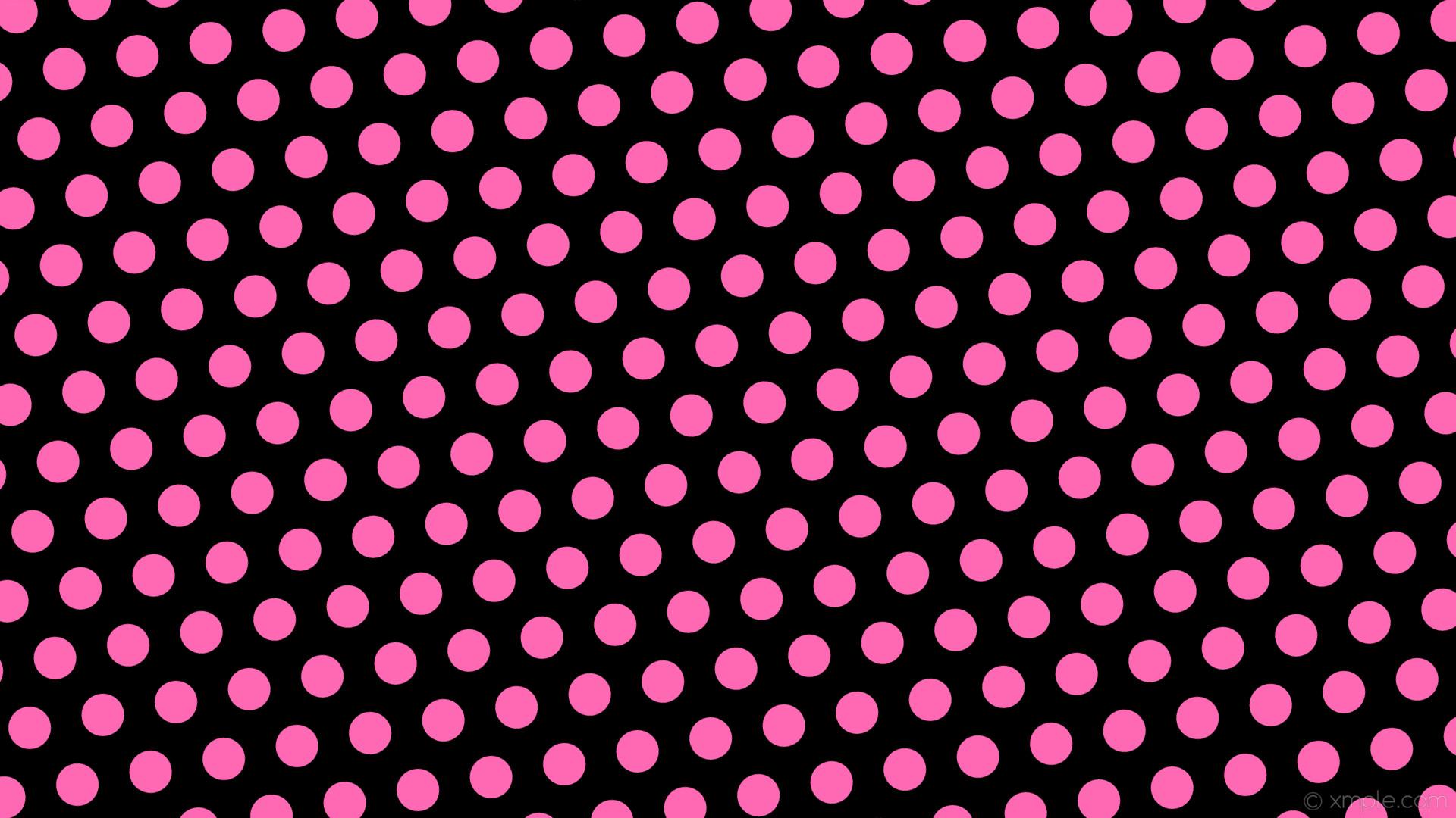 wallpaper pink hexagon black polka dots hot pink #000000 #ff69b4 diagonal  10° 56px