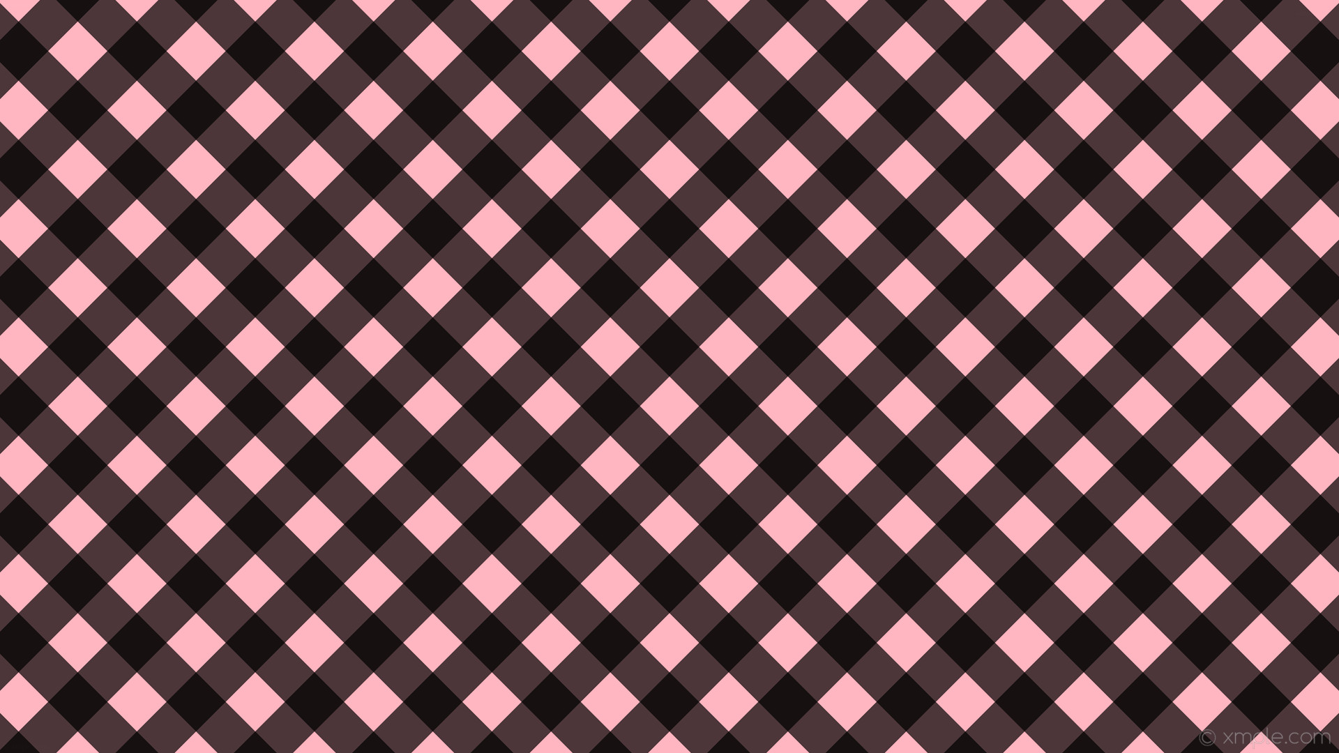 wallpaper pink gingham striped checker black light pink #ffb6c1 #000000  135° 60px