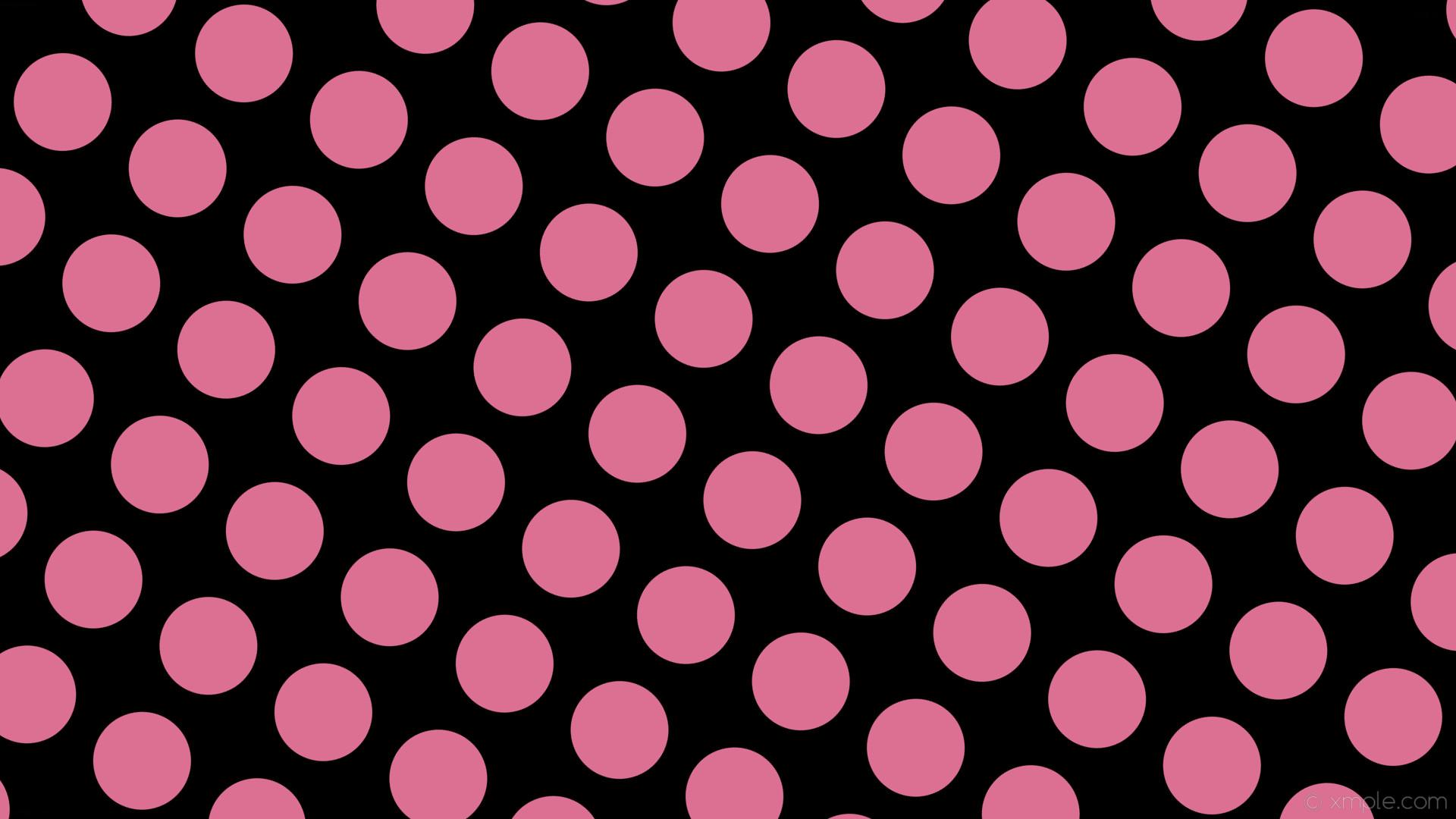 wallpaper dots black spots pink polka pale violet red #000000 #db7093 60°  129px