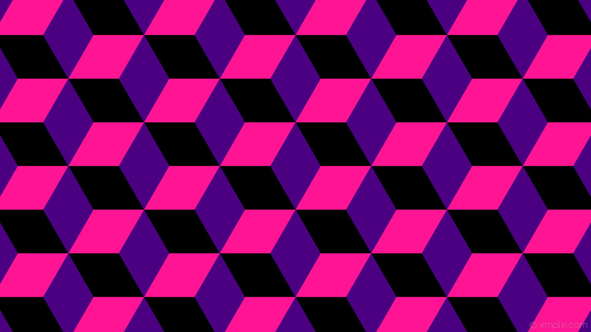 wallpaper purple 3d cubes pink black indigo deep pink #4b0082 #ff1493  #000000 270