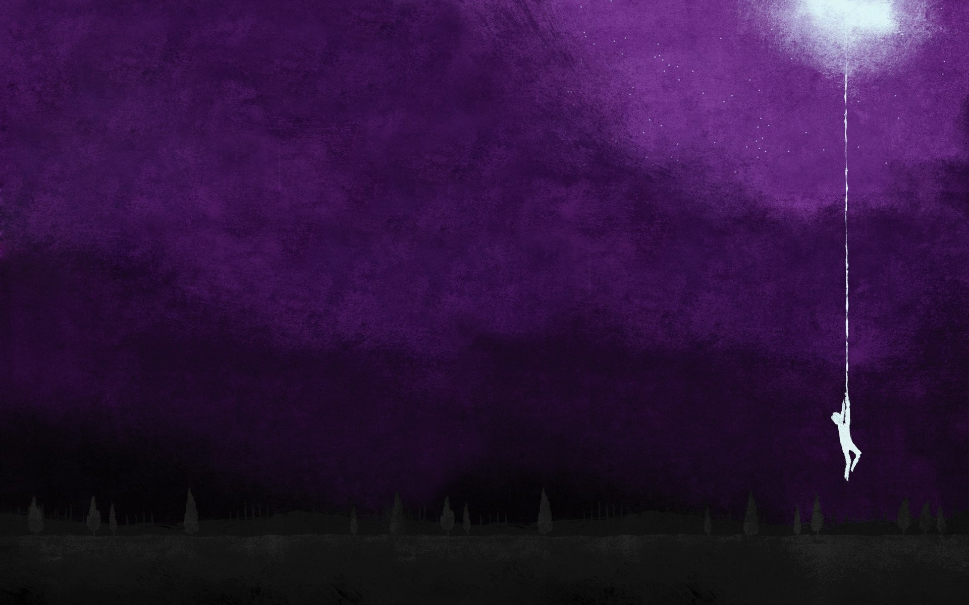 Moon silhouettes hanging artwork album covers purple background August  Burns Red wallpaper     257852   WallpaperUP