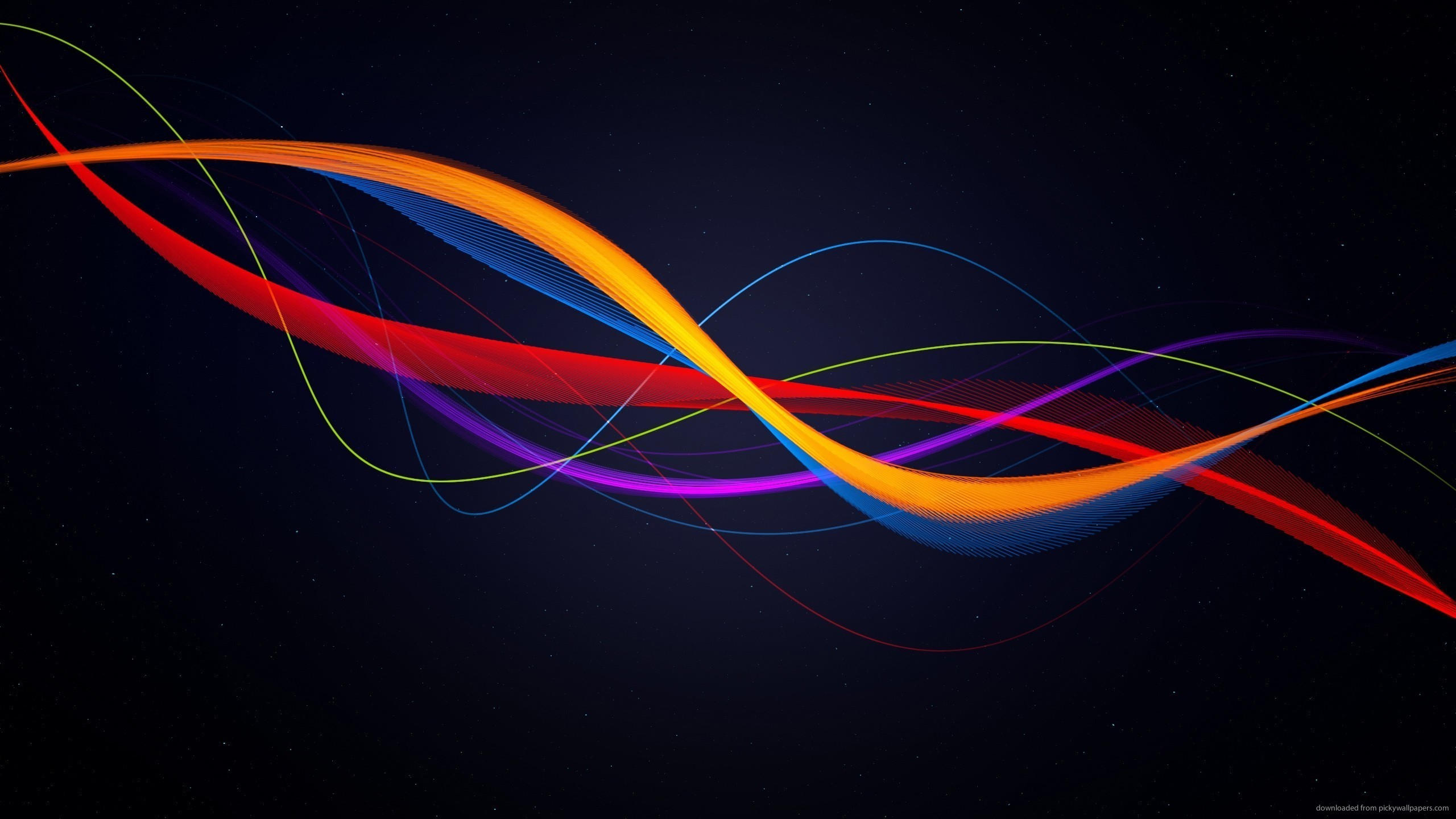 Red Yellow Blue Purple Lines for 2560×1440