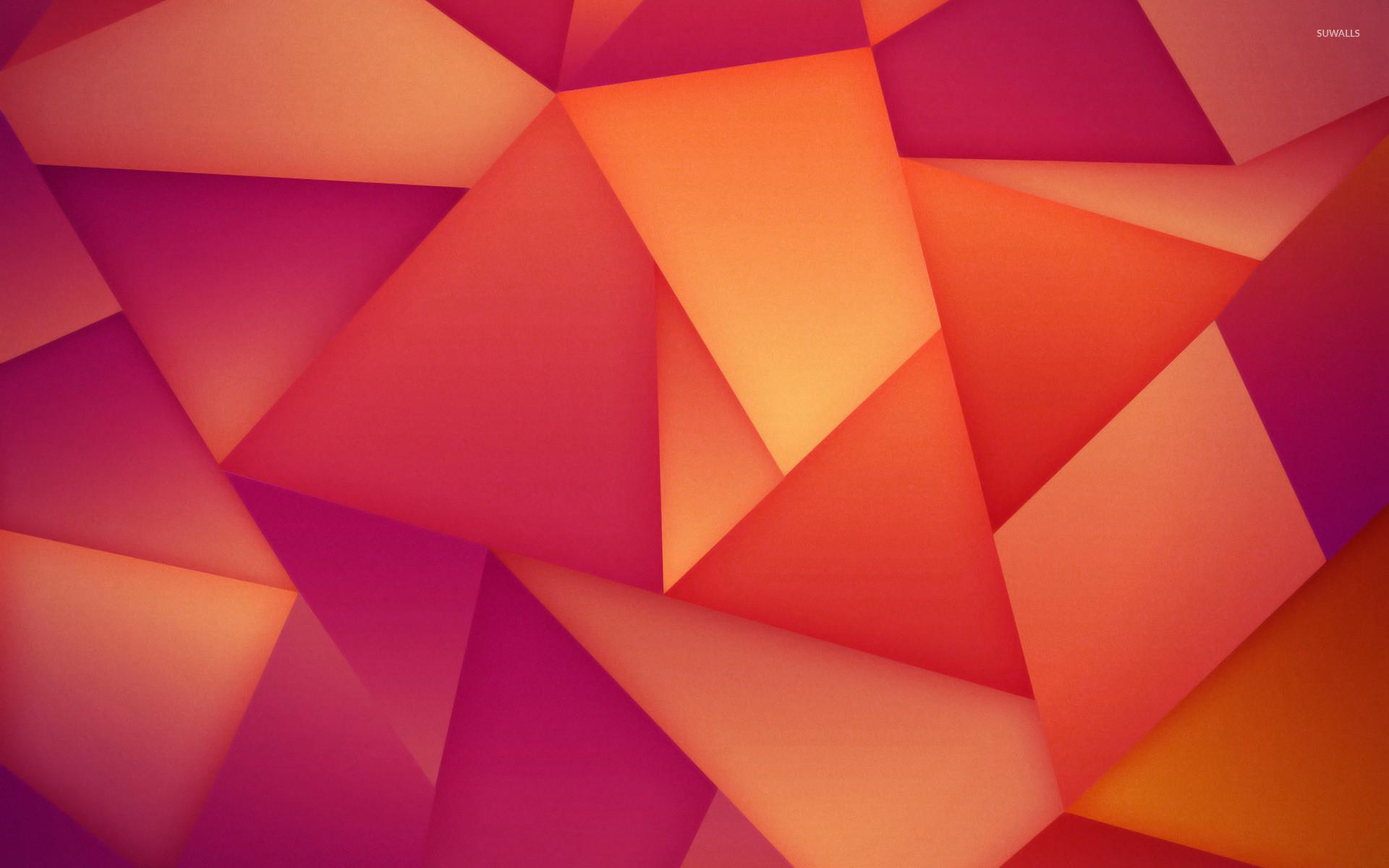 Orange and purple polygons wallpaper