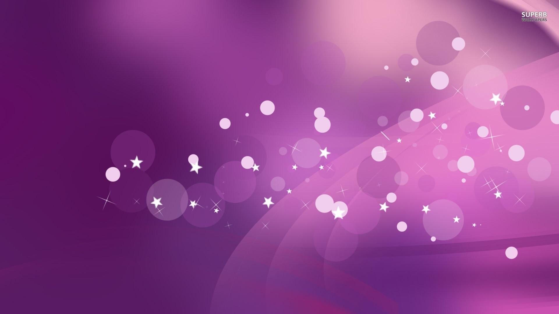 Purple Stars Wallpaper