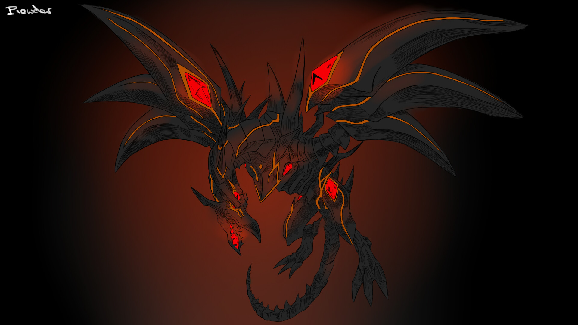 Red-Eyes Black Dragon Wallpaper HD
