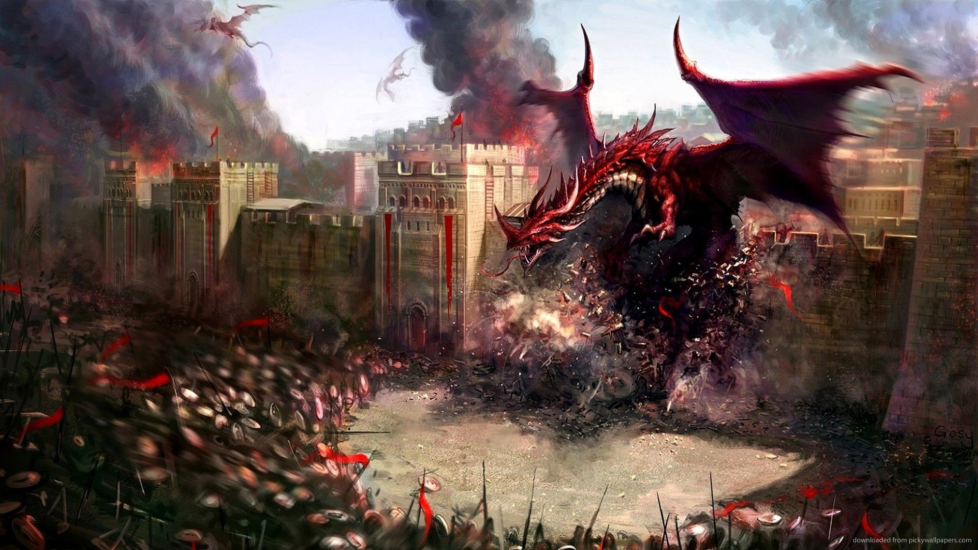 HD Attack Of The Red Dragon Wallpaper