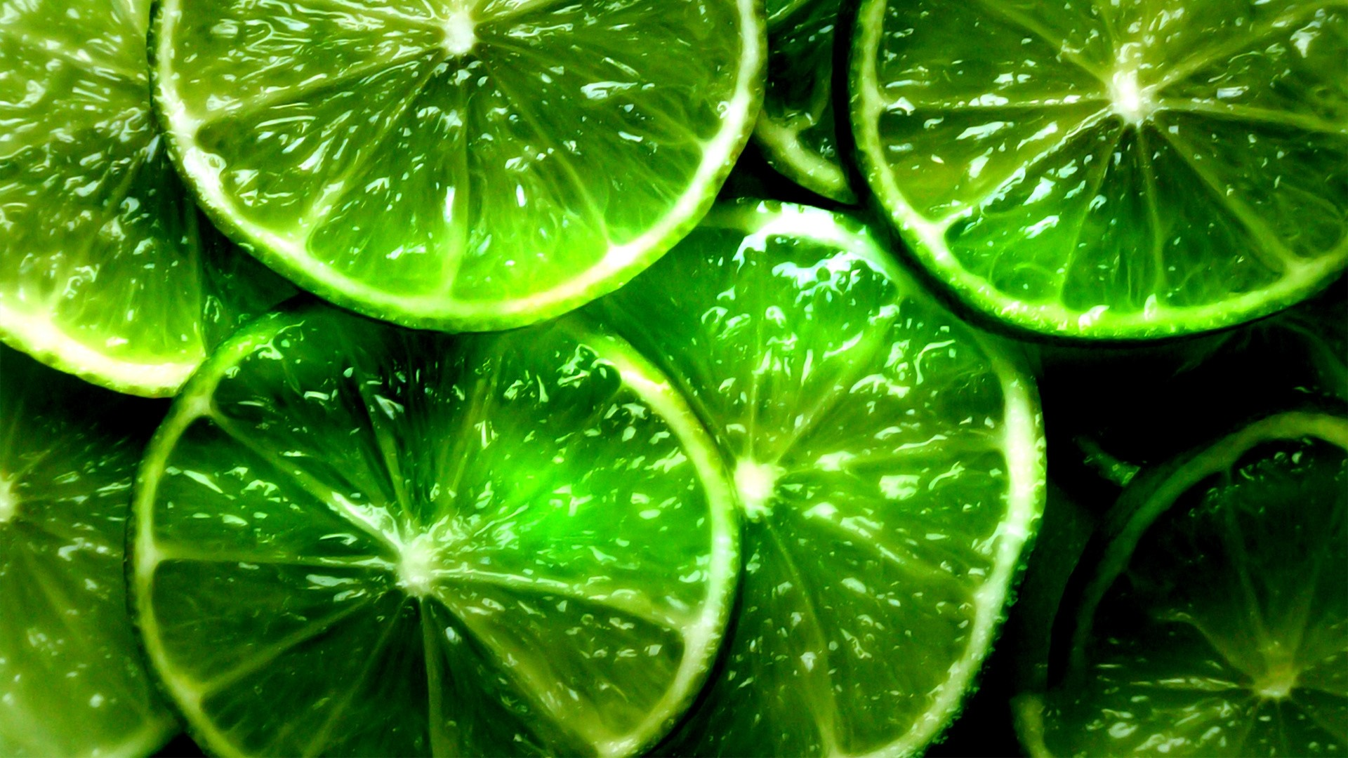 Preview wallpaper lime, segments, slices, green, background 1920×1080