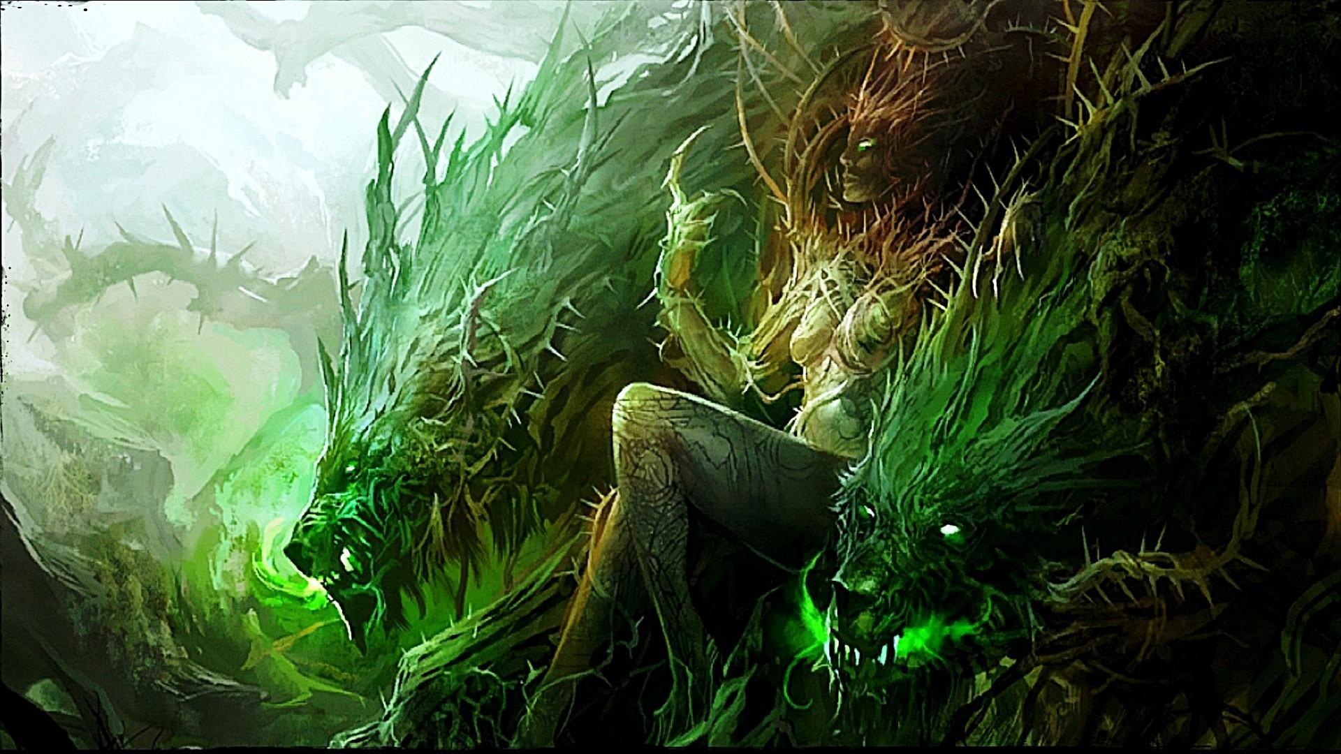 Green Fantasy Wallpaper