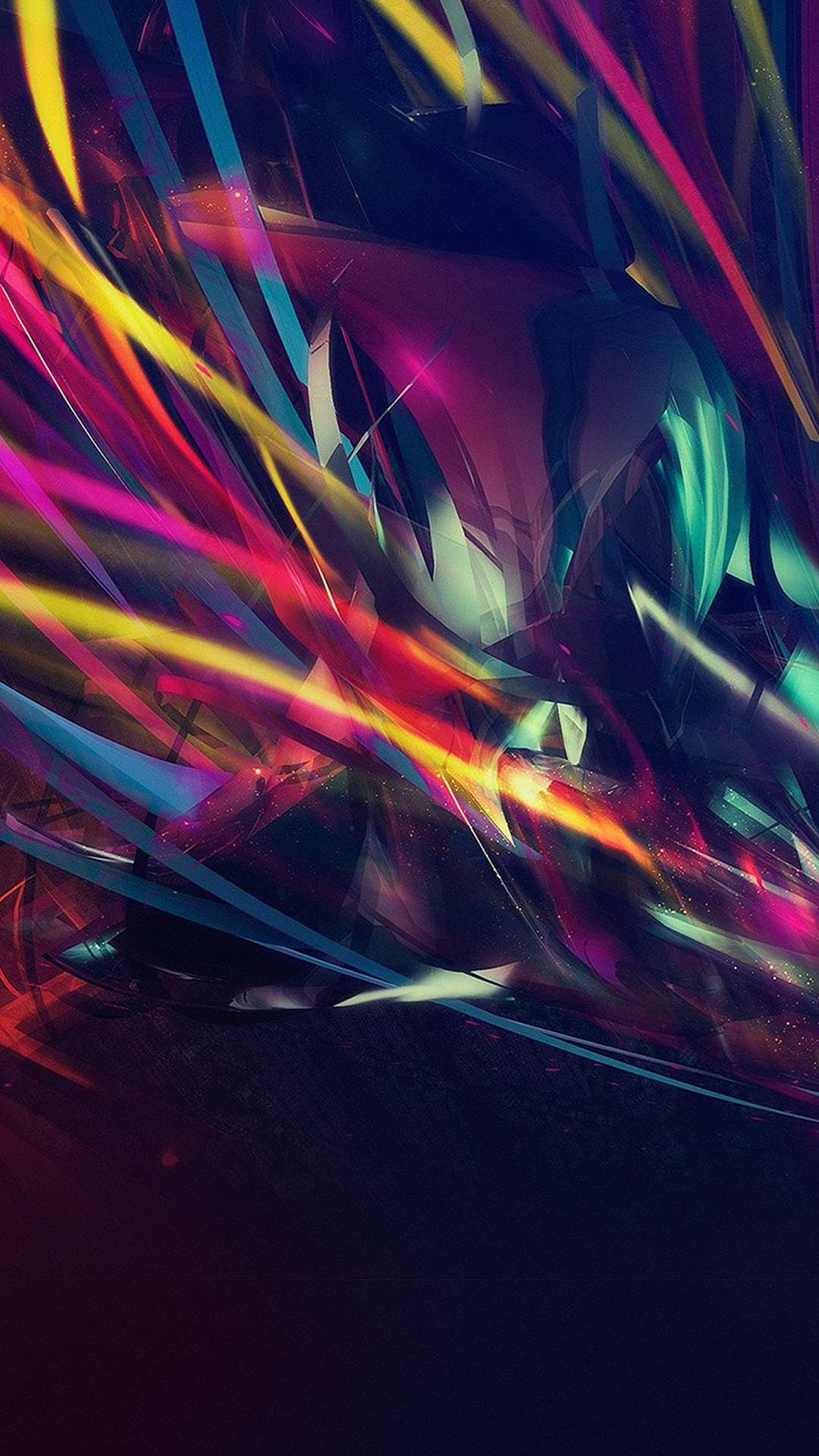 Colorful Line Abstract Art Dark Pattern #iPhone #7 #wallpaper