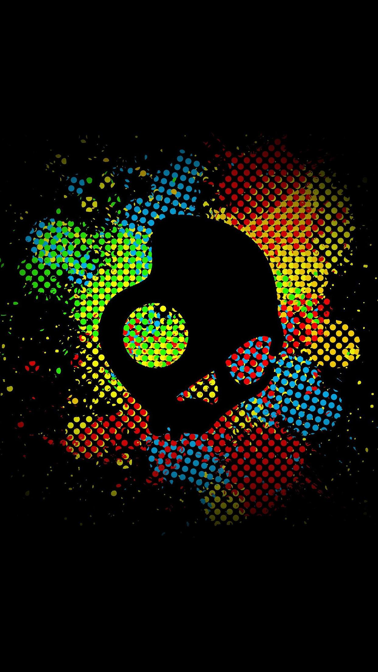 Colorful Skull Dark Art Illustration Android Wallpaper …