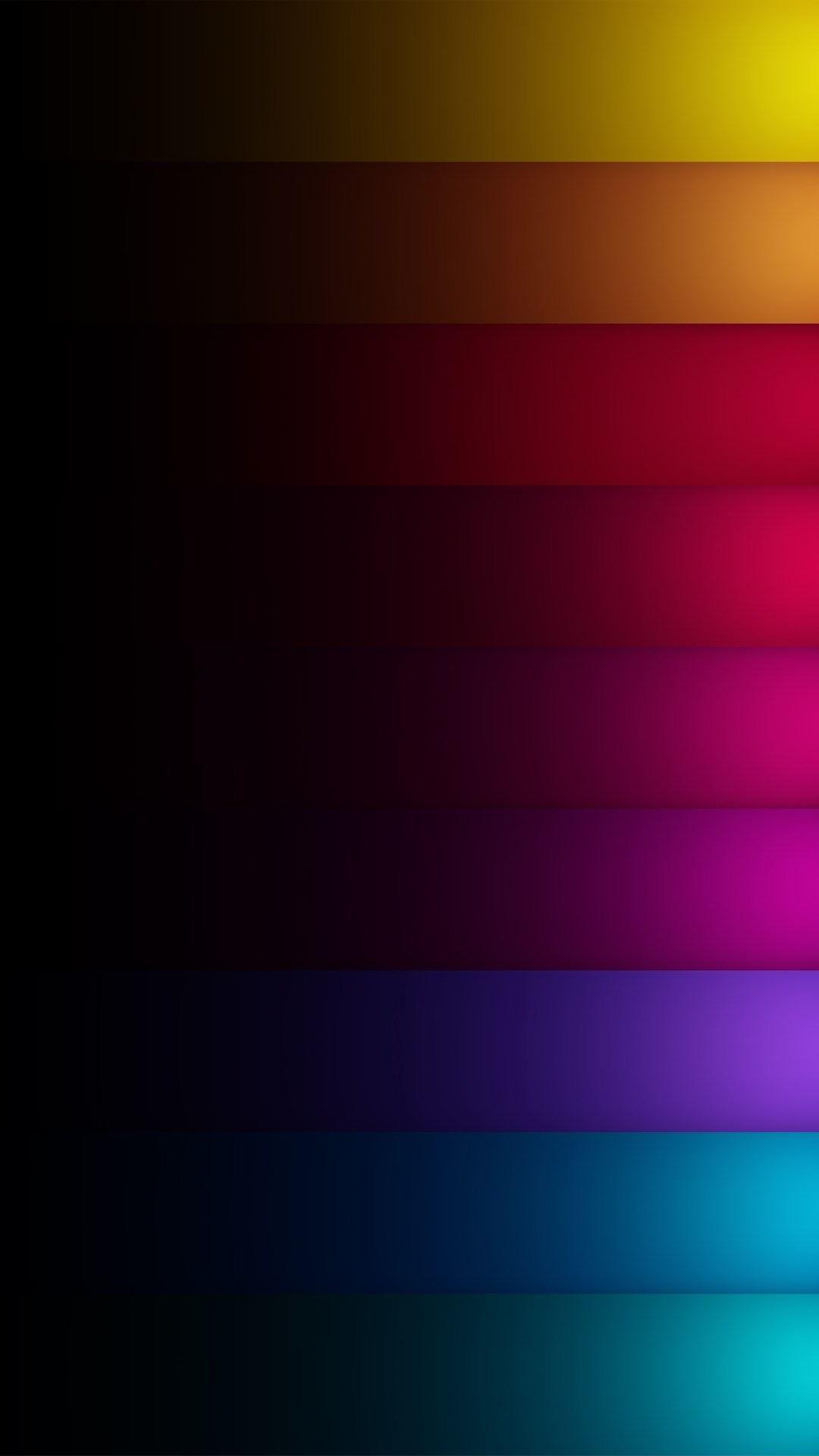 Dark Shadow Colored Rainbow Rows iPhone 6 Plus HD Wallpaper …