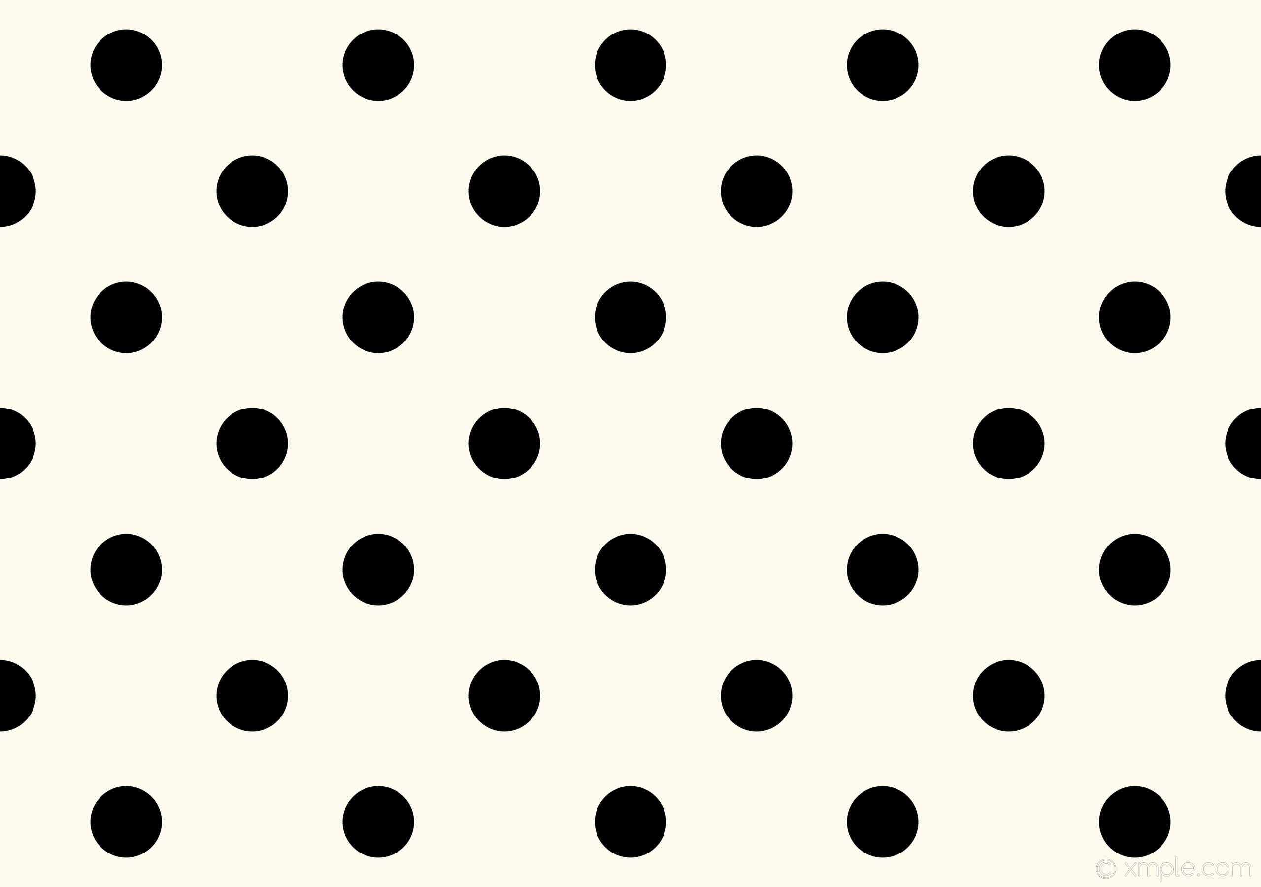 Wallpaper polka dots black white spots #fffaf0 #000000 225° 145px 362px