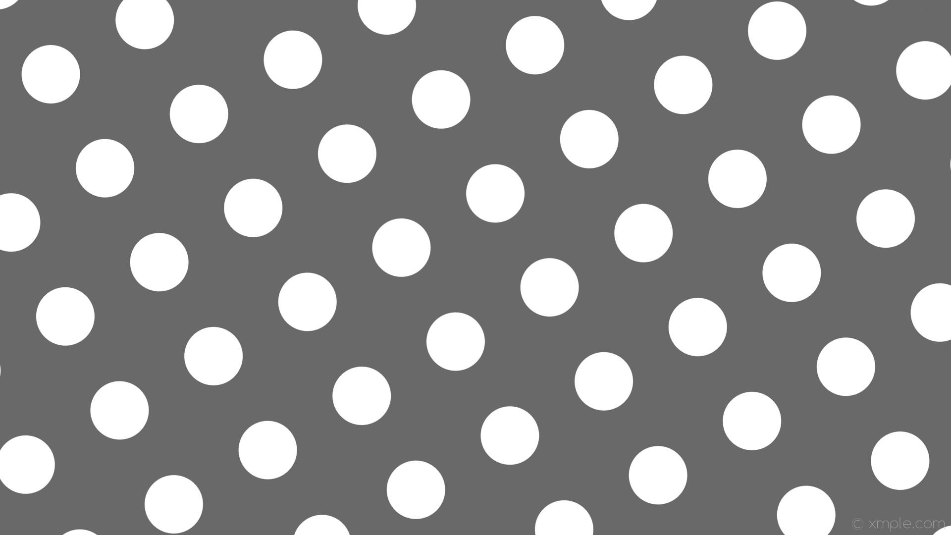 wallpaper polka dots grey white spots dim gray #696969 #ffffff 30° 118px  219px