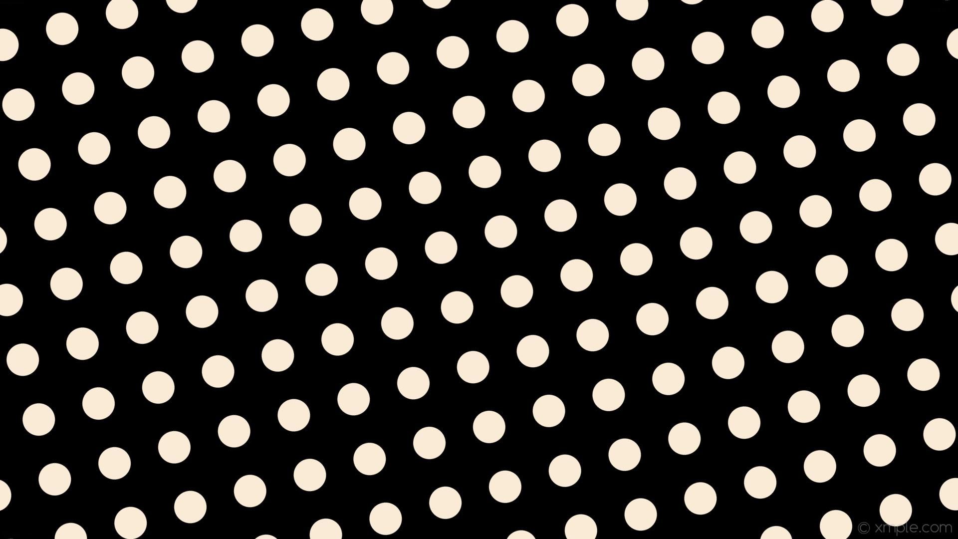 wallpaper spots white dots polka black antique white #000000 #faebd7 285°  65px 124px