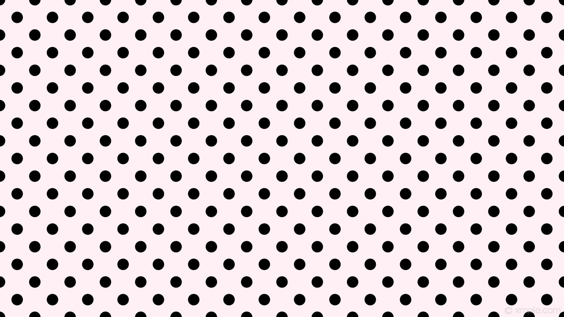 wallpaper white spots black polka dots lavender blush #fff0f5 #000000 135°  39px 85px