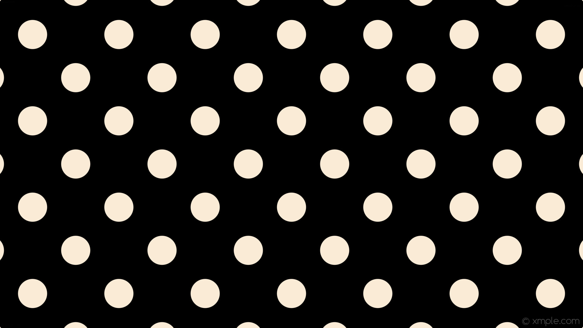 wallpaper dots white spots polka black antique white #000000 #faebd7 315°  96px 201px