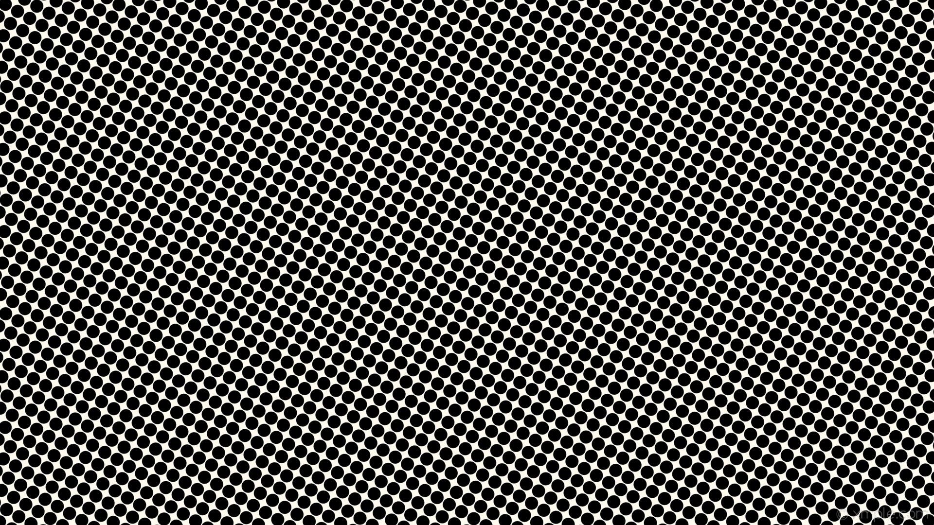 wallpaper polka dots spots black white floral white #fffaf0 #000000 240°  27px 29px
