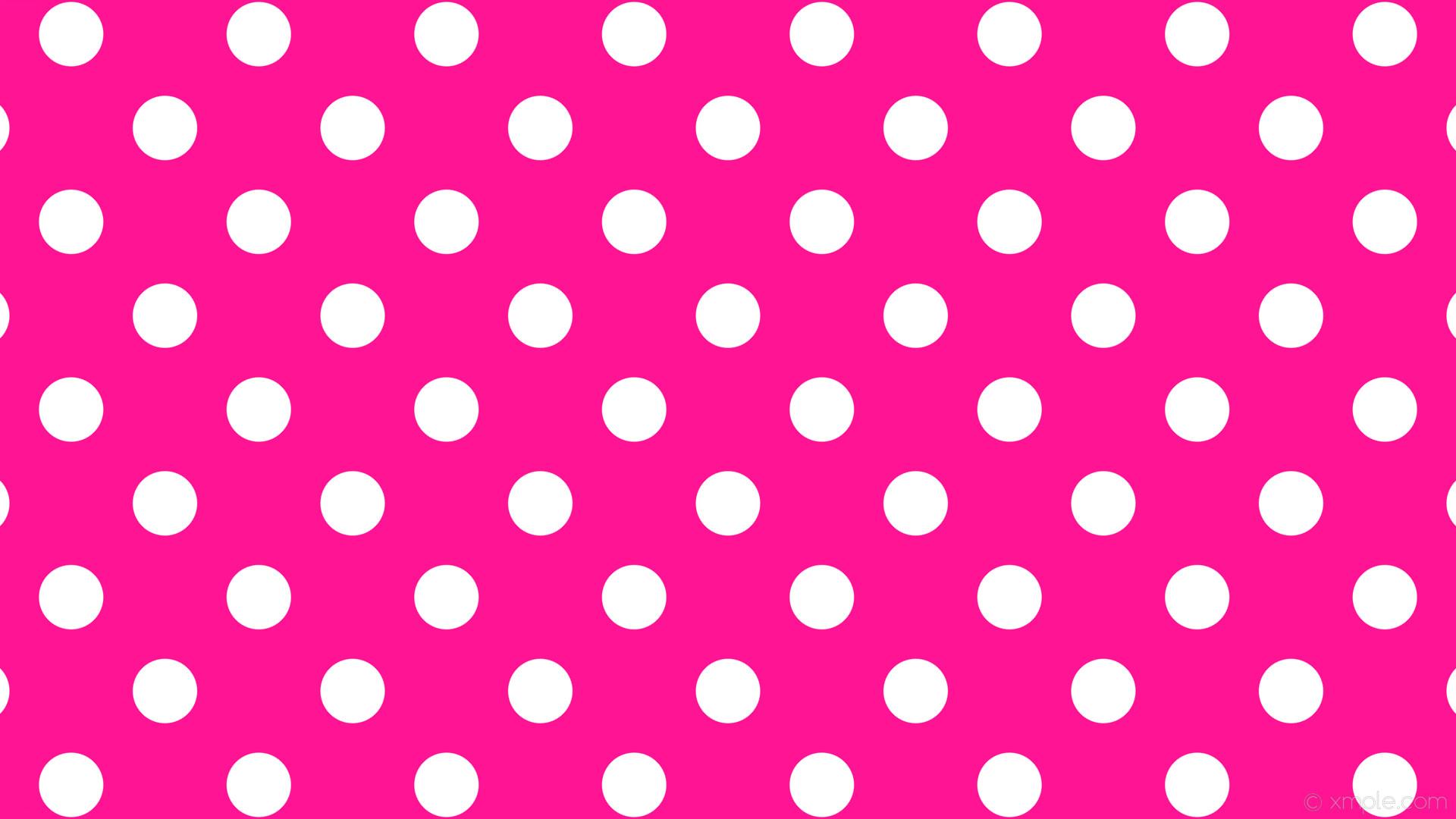 wallpaper polka spots pink white dots deep pink #ff1493 #ffffff 225° 85px  175px