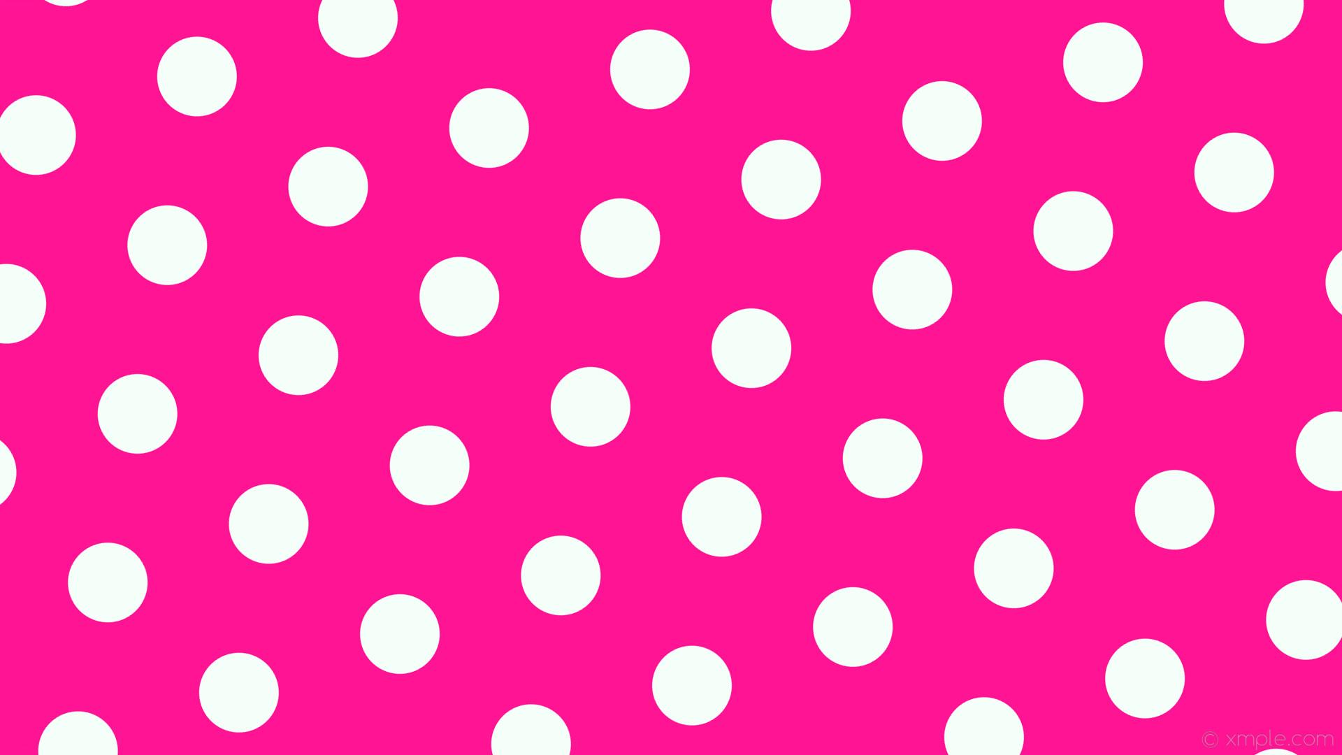 wallpaper hexagon pink polka dots white deep pink mint cream #ff1493  #f5fffa diagonal 20