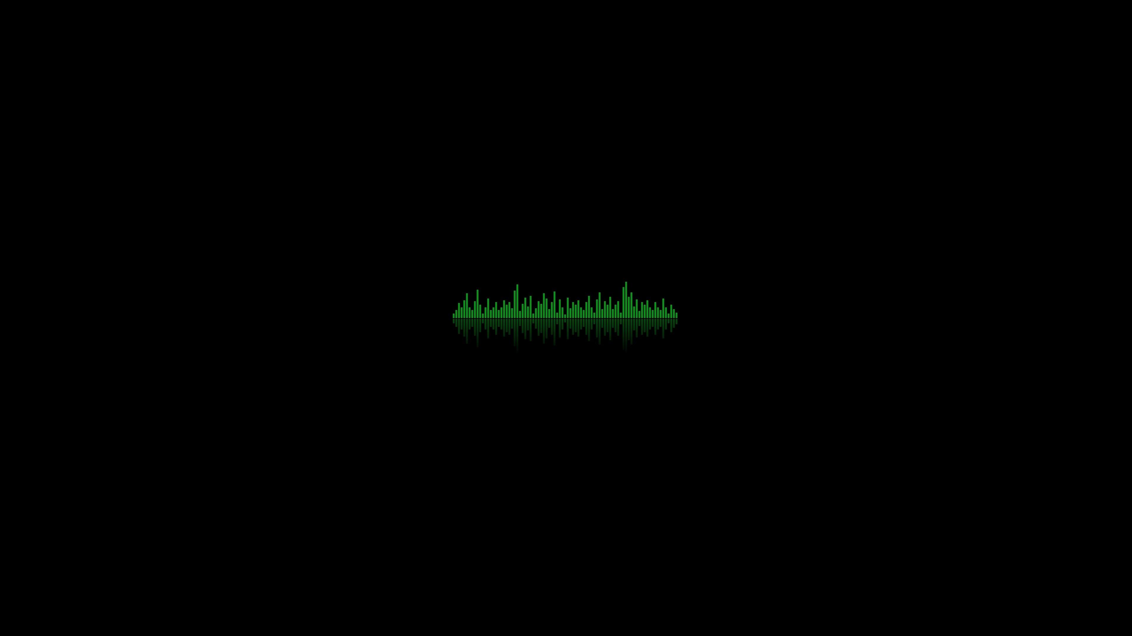 Wallpaper background, equalizer, dark, lines, ribbed, green