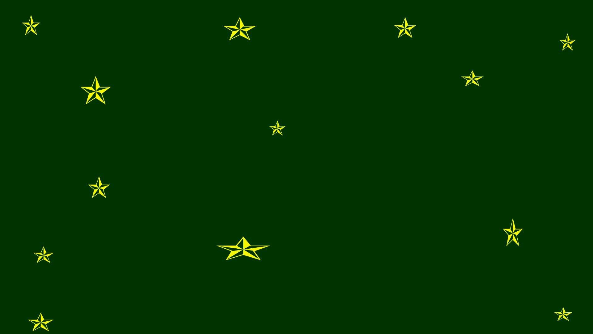 Dark Green Background, Gold Stars – Free