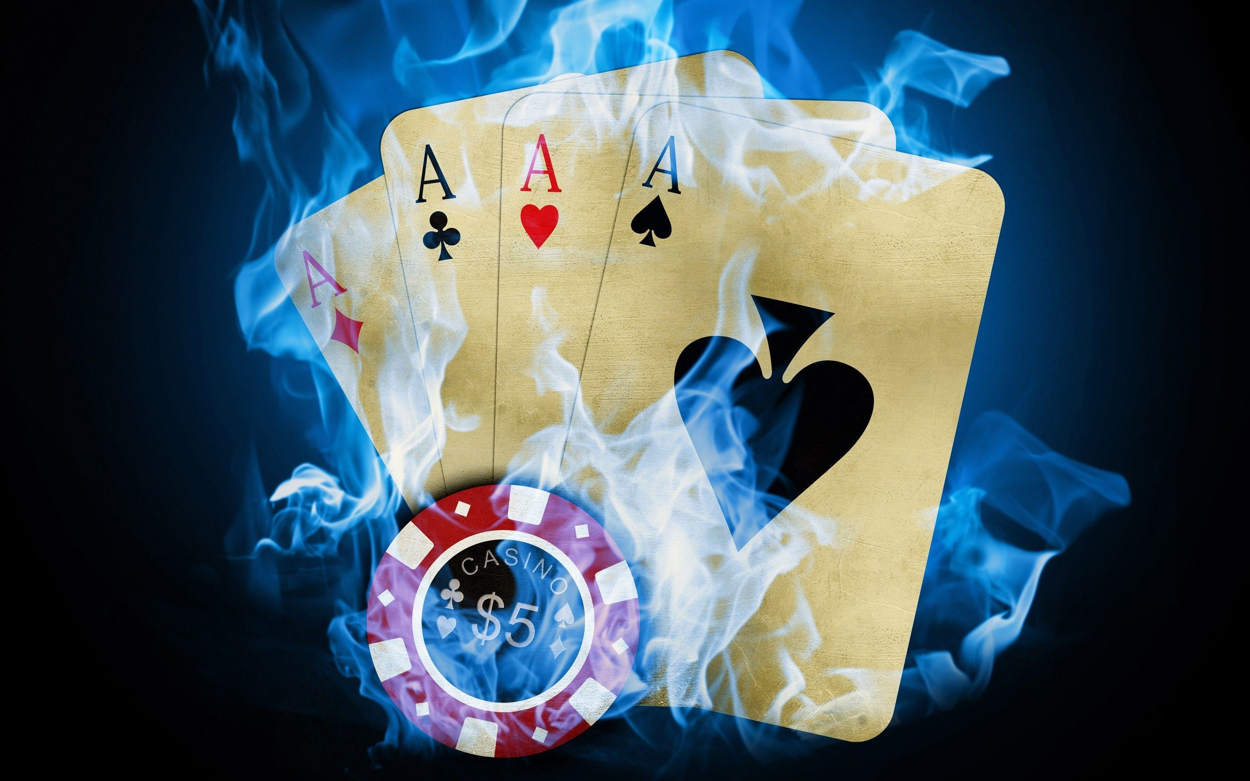 cards, flames, blue, fire, poker, Ace, chip, token :