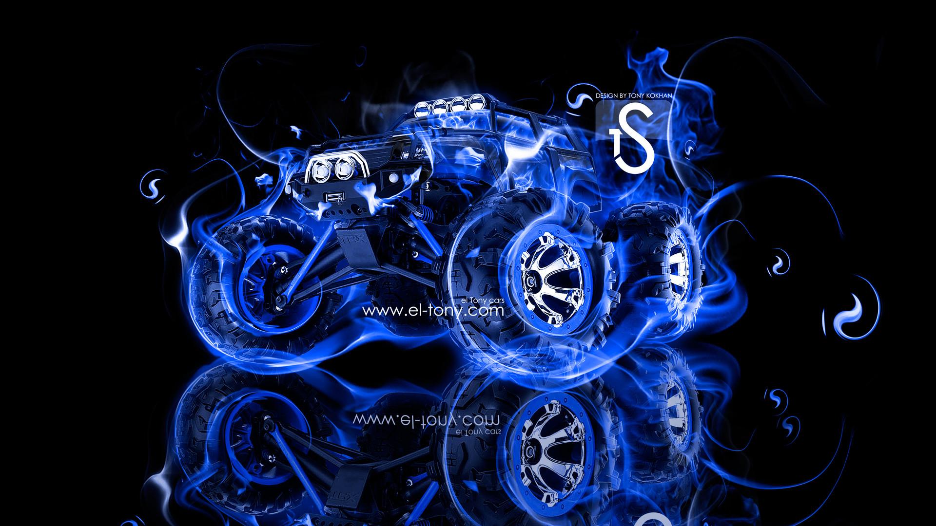 Free Download Blue Fire Horse Design Tony Kokhan Wallpaper