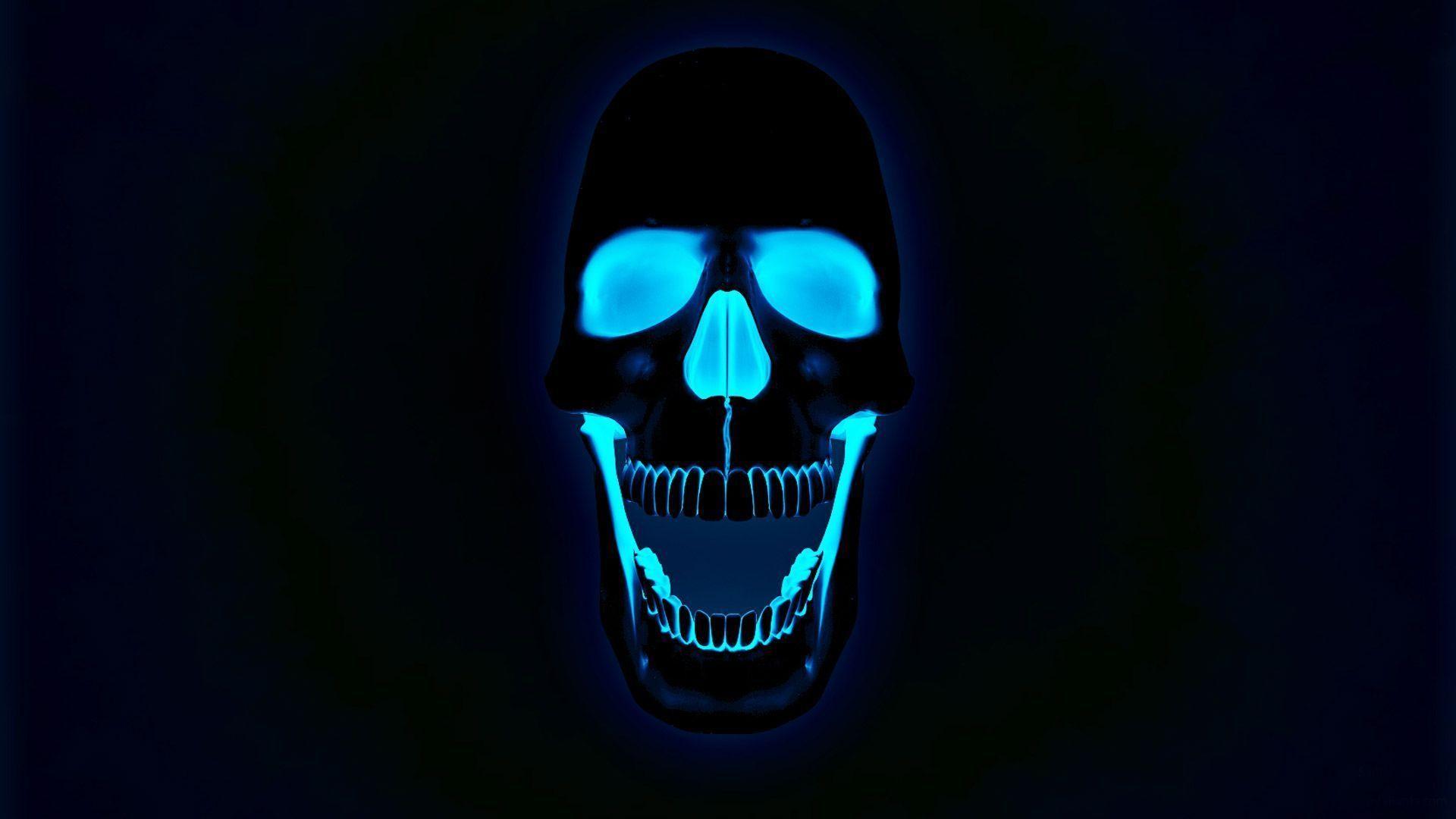 Blue Fire Skull Photo Wallpaper HD – dlwallhd.