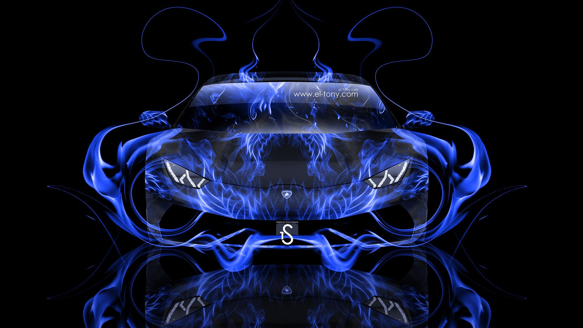 Lamborghini-Huracan-Front-Blue-Fire-Abstract-Car-2014-HD .