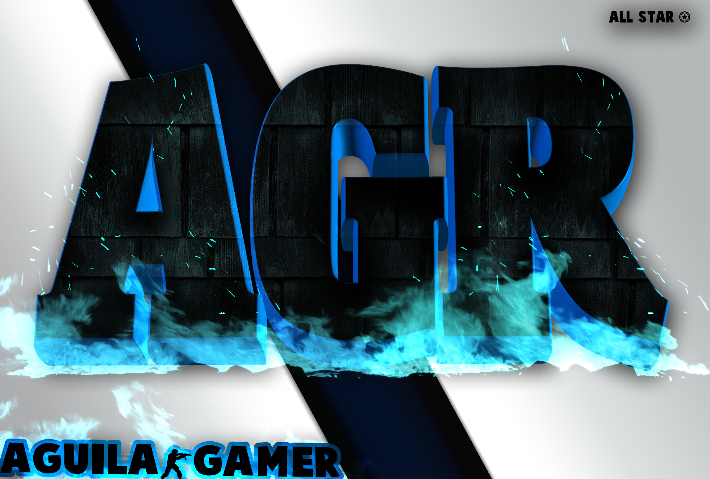 … Blue fire AGR logo/wallpaper by Thepedro0403