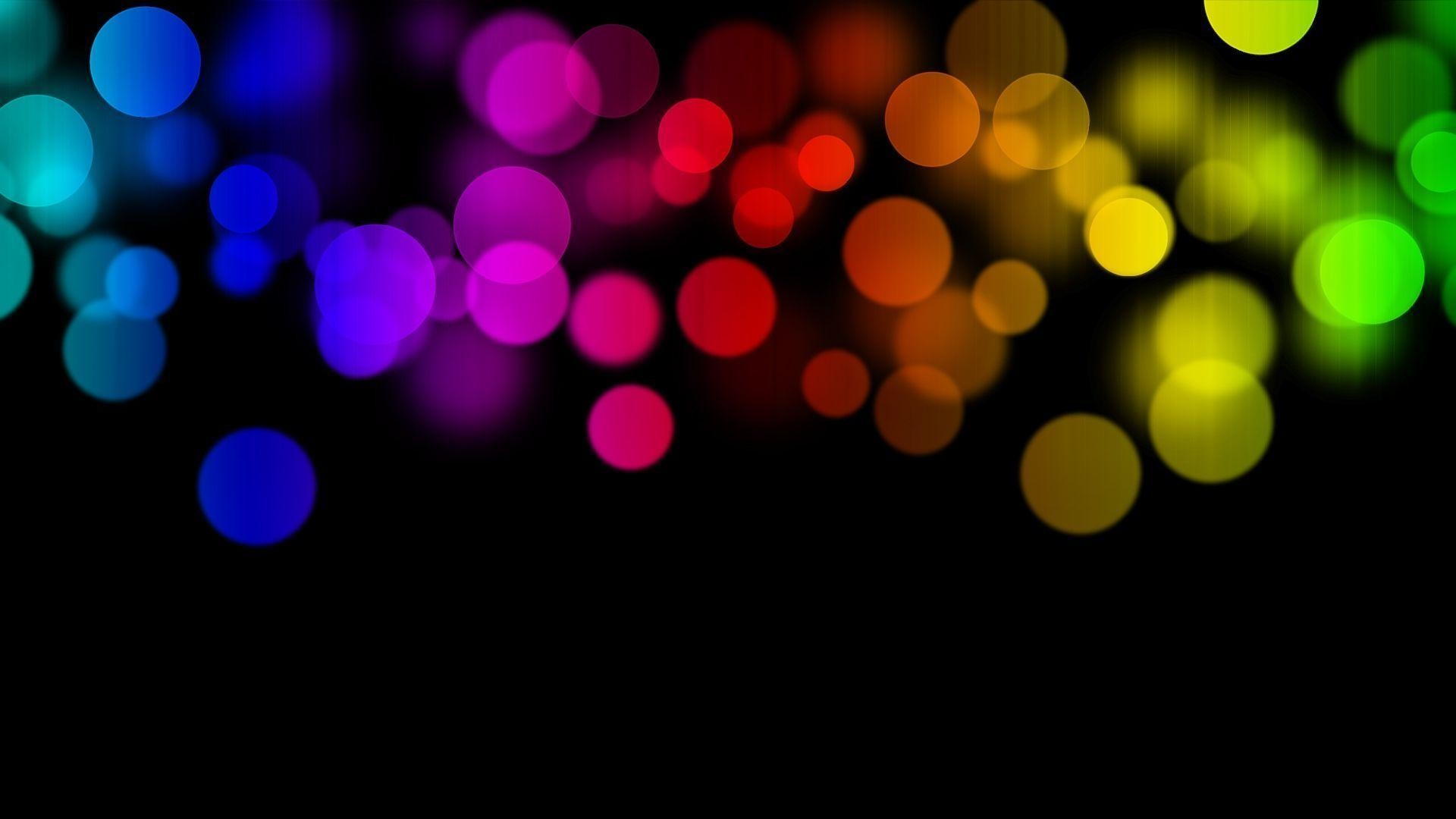 Circles Glare Bright Colored wallpaper #