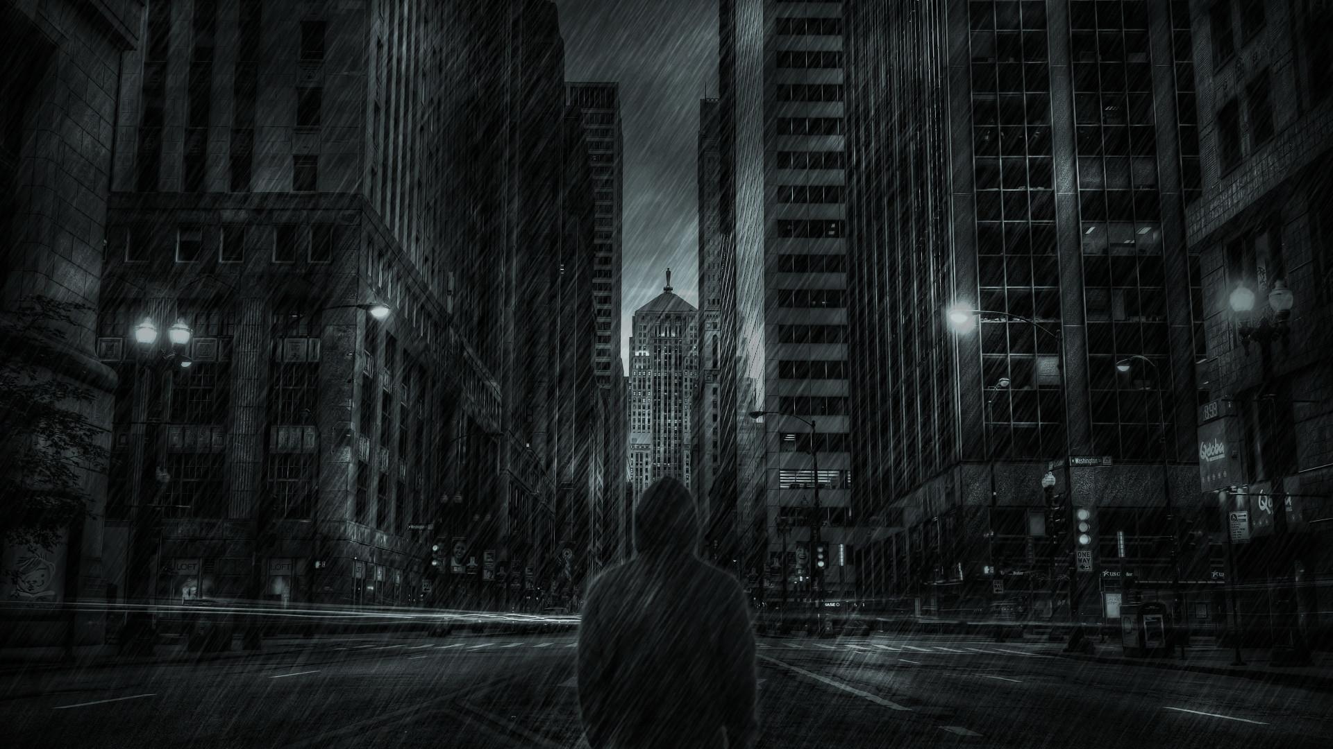 Buildings Skyscrapers Hoodie Rain Storm mood dark wallpaper | |  220368 | WallpaperUP