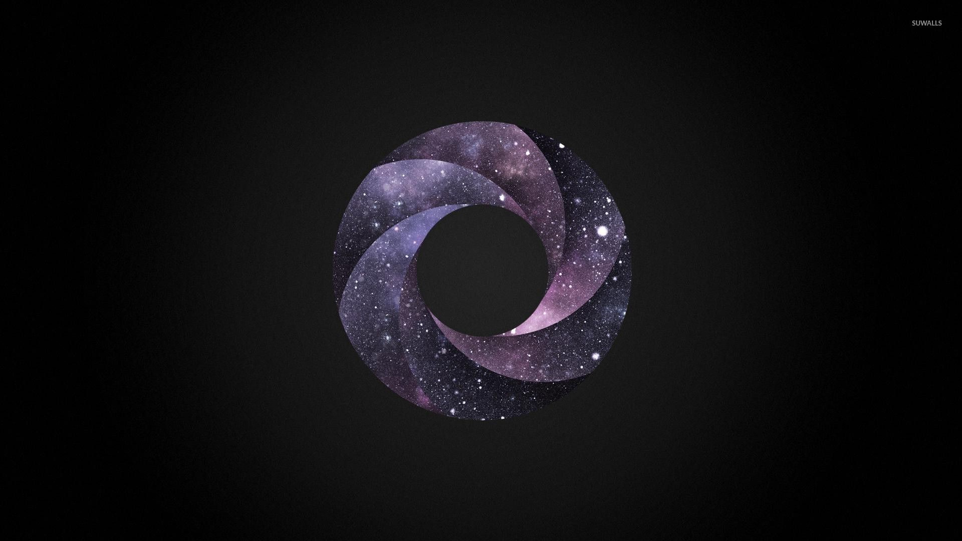 Cosmic swirl on the dark background wallpaper jpg