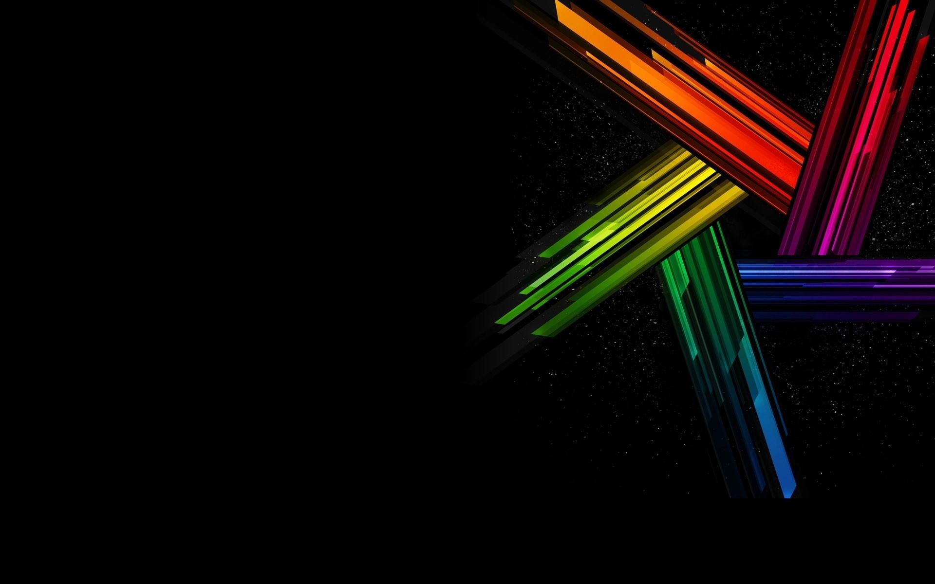 Colors on Black desktop PC and Mac wallpaper