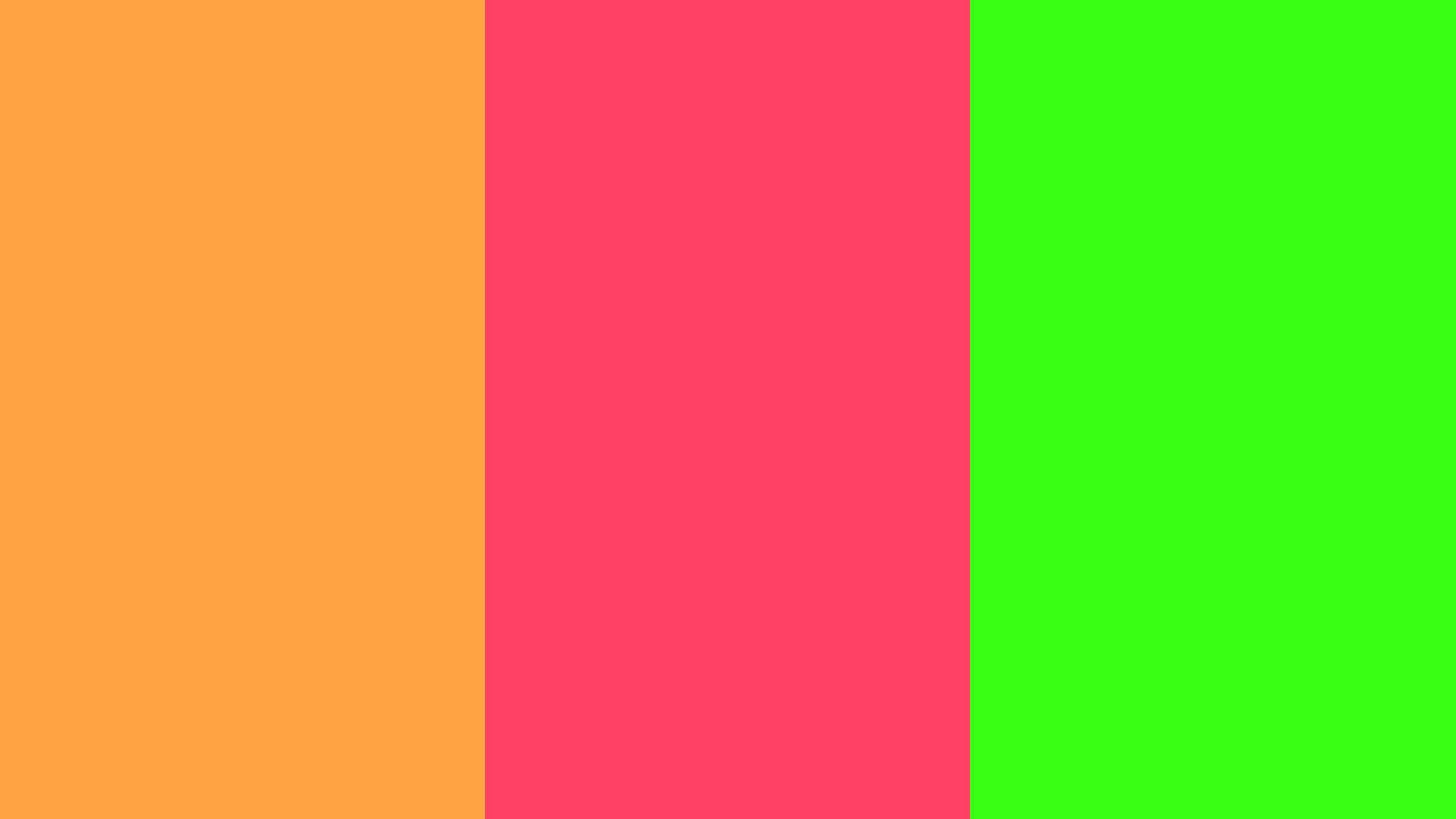 Neon Carrot, Neon Fuchsia and Neon Green Three Color .