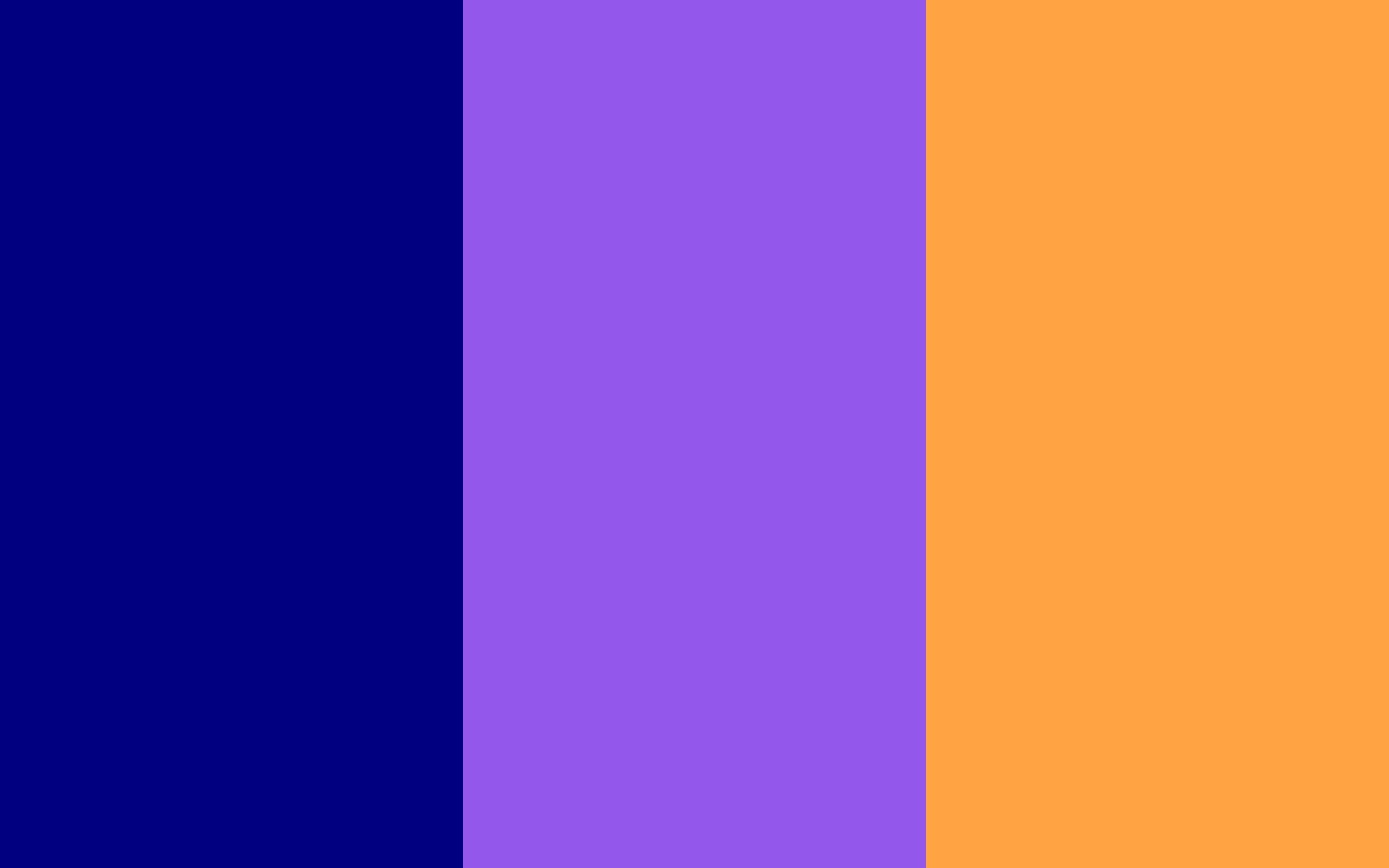 Navy Blue, Navy Purple and Neon Carrot solid three color background .
