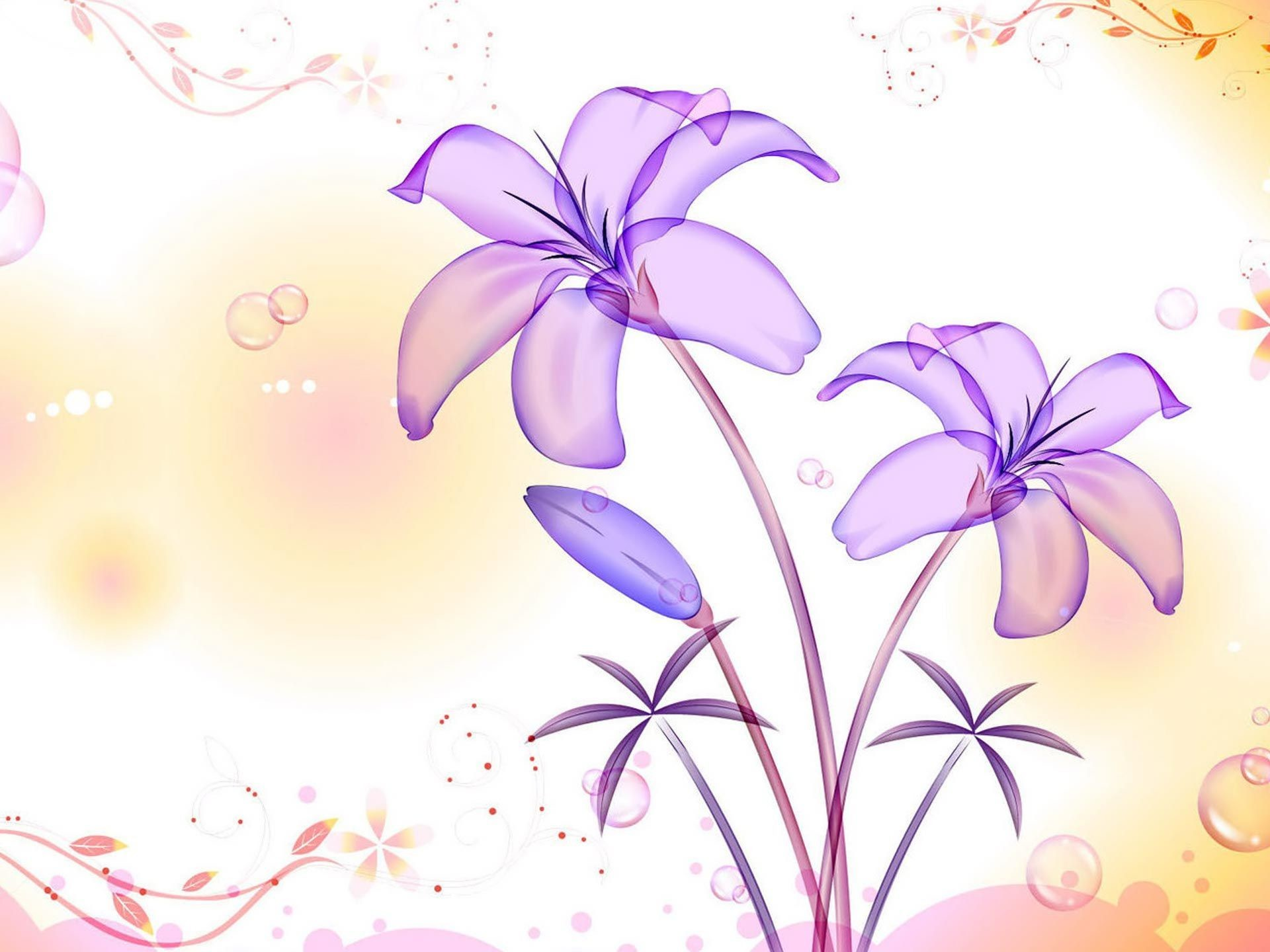 Light Purple Wallpaper Full HD Mekamak
