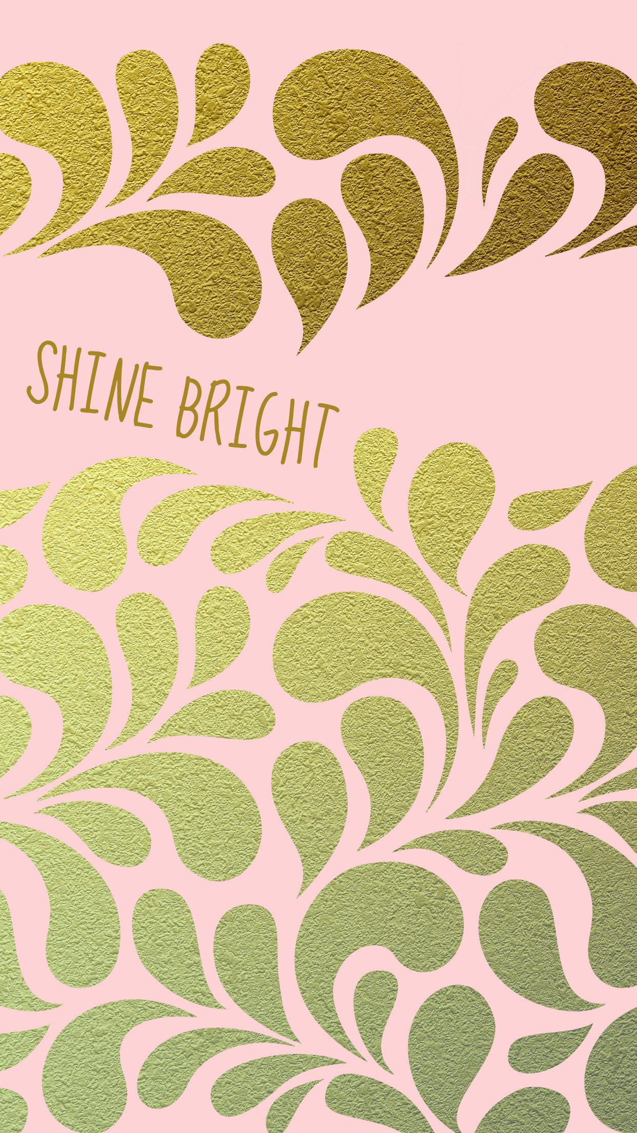 Shine Bright Blush Pink Gold iPhone Wallpaper Background