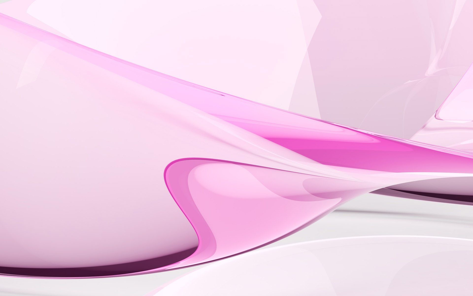 Pink Abstract Designs Wide